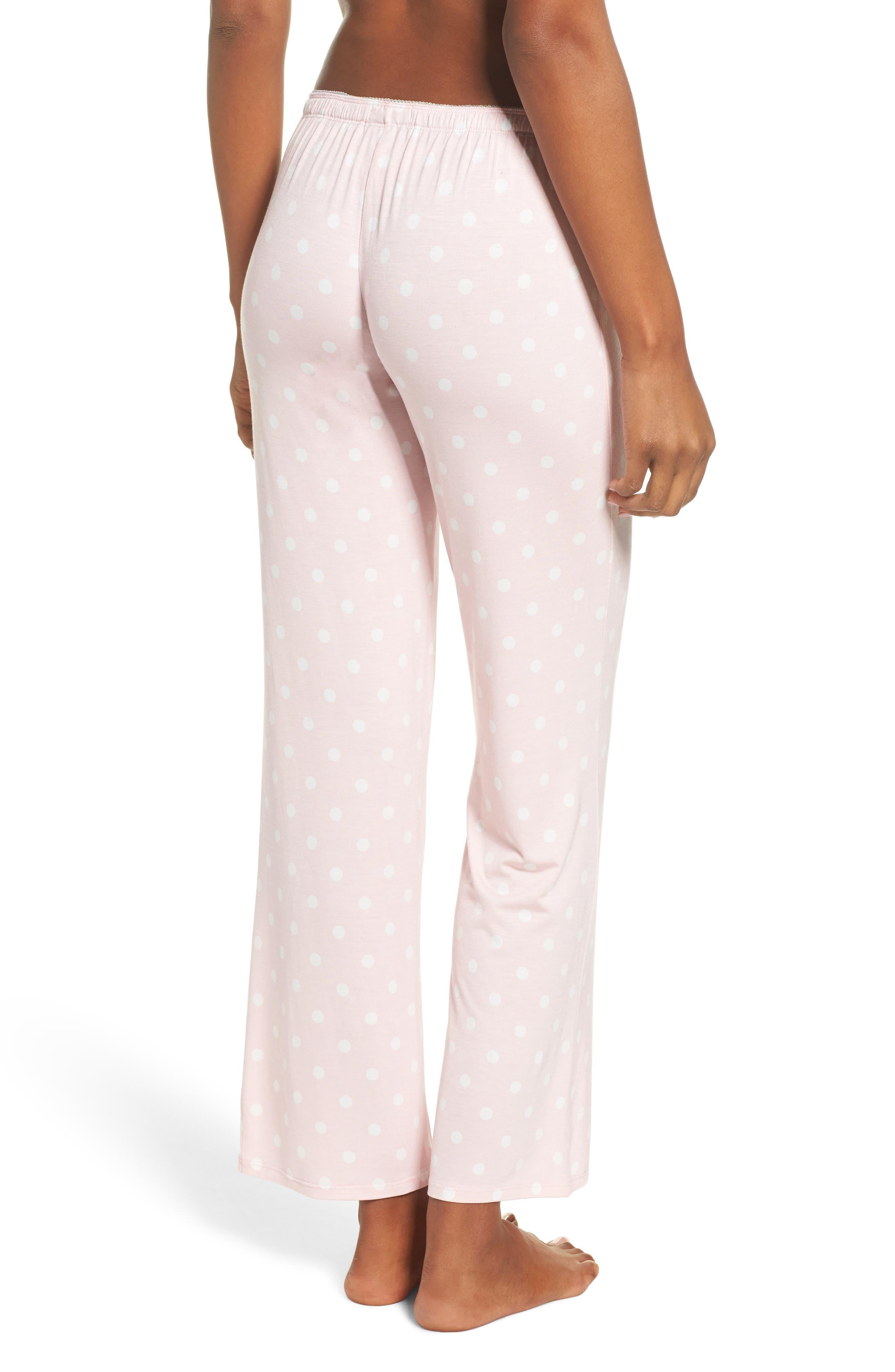 Drawstring Pajama Pants,                             Alternate thumbnail 2, color,                             Pink