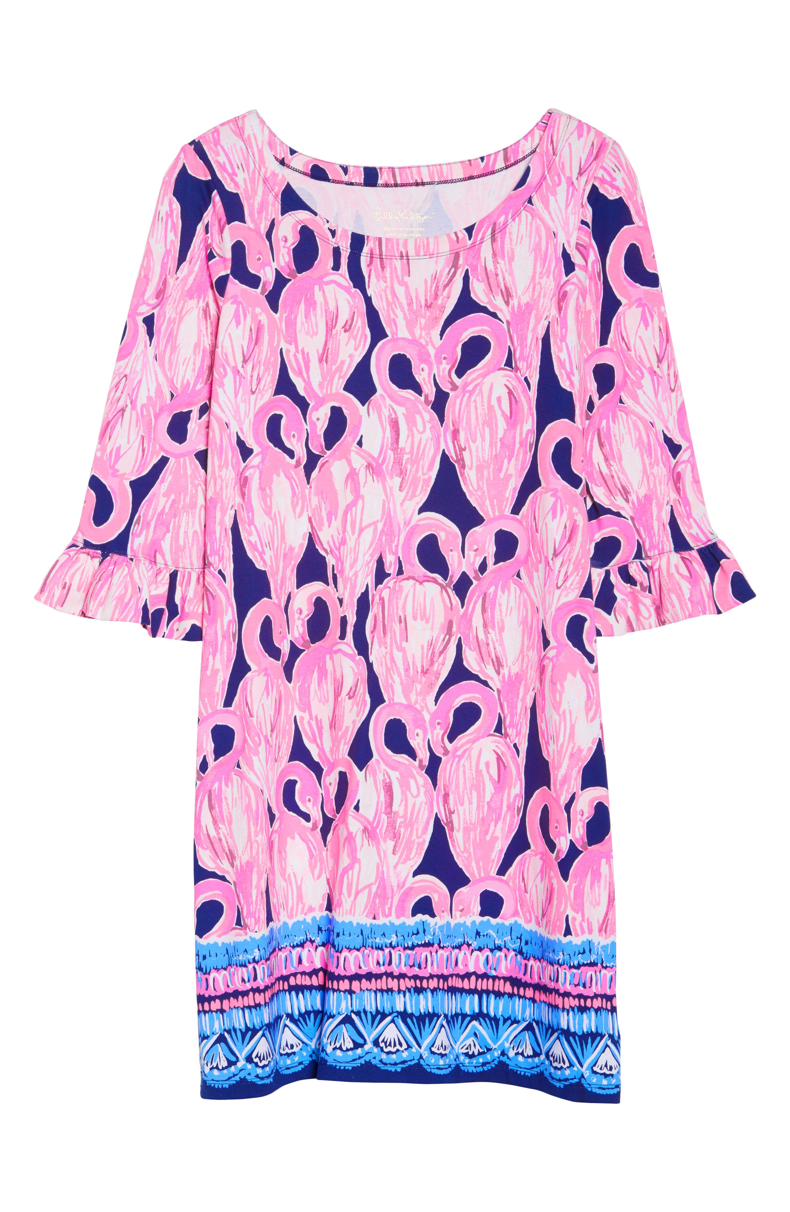 Sophie UPF 50+ Shift Dress,                             Alternate thumbnail 6, color,                             High Tide Via Amor