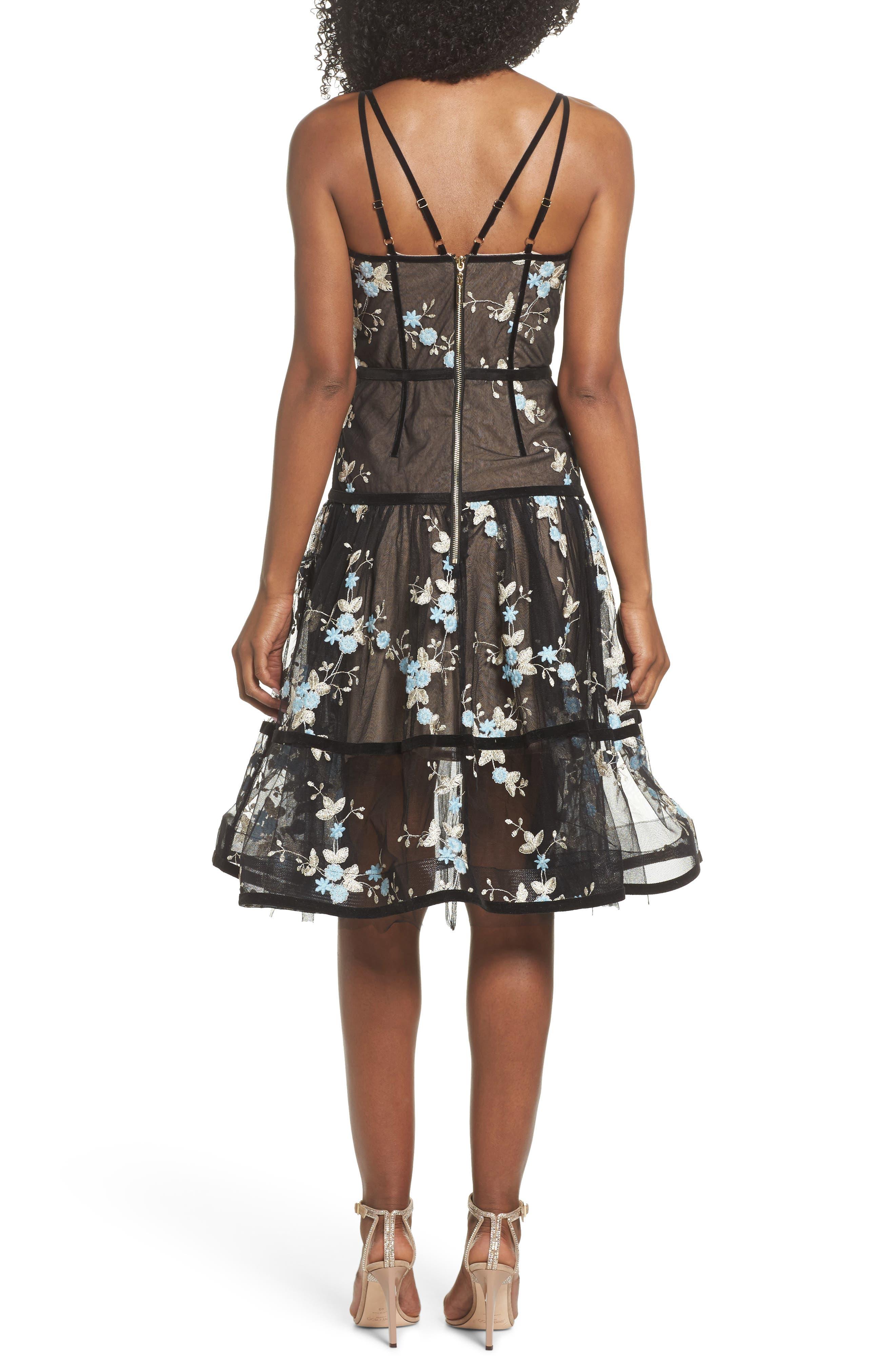 Marietta Fit & Flare Dress,                             Alternate thumbnail 5, color,                             Multicolor