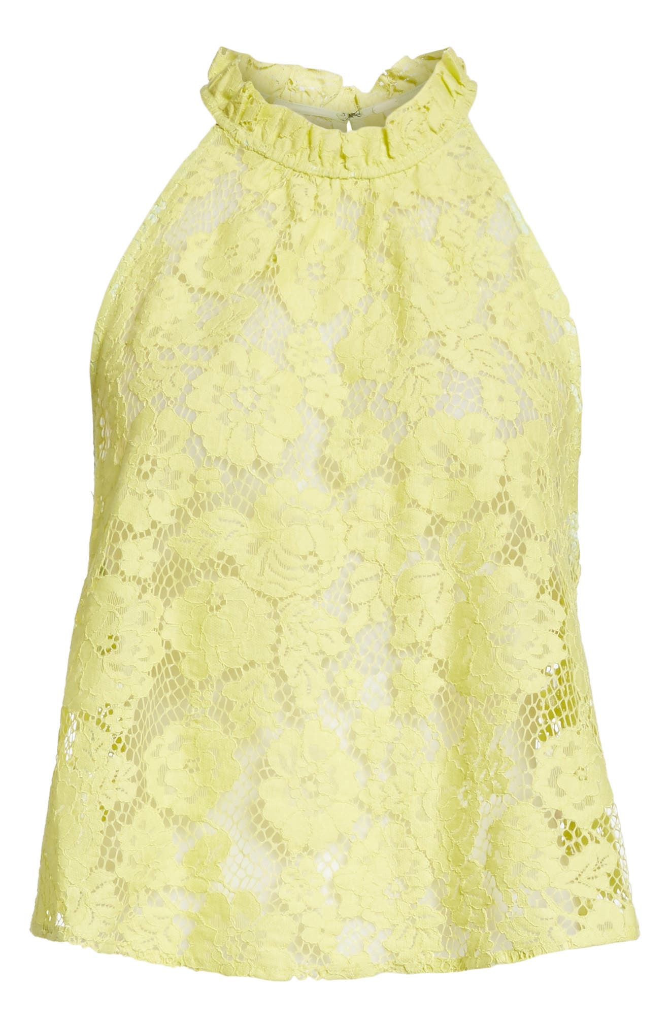 Sweet Meadow Dreams Lace Top,                             Alternate thumbnail 6, color,                             Chartreuse
