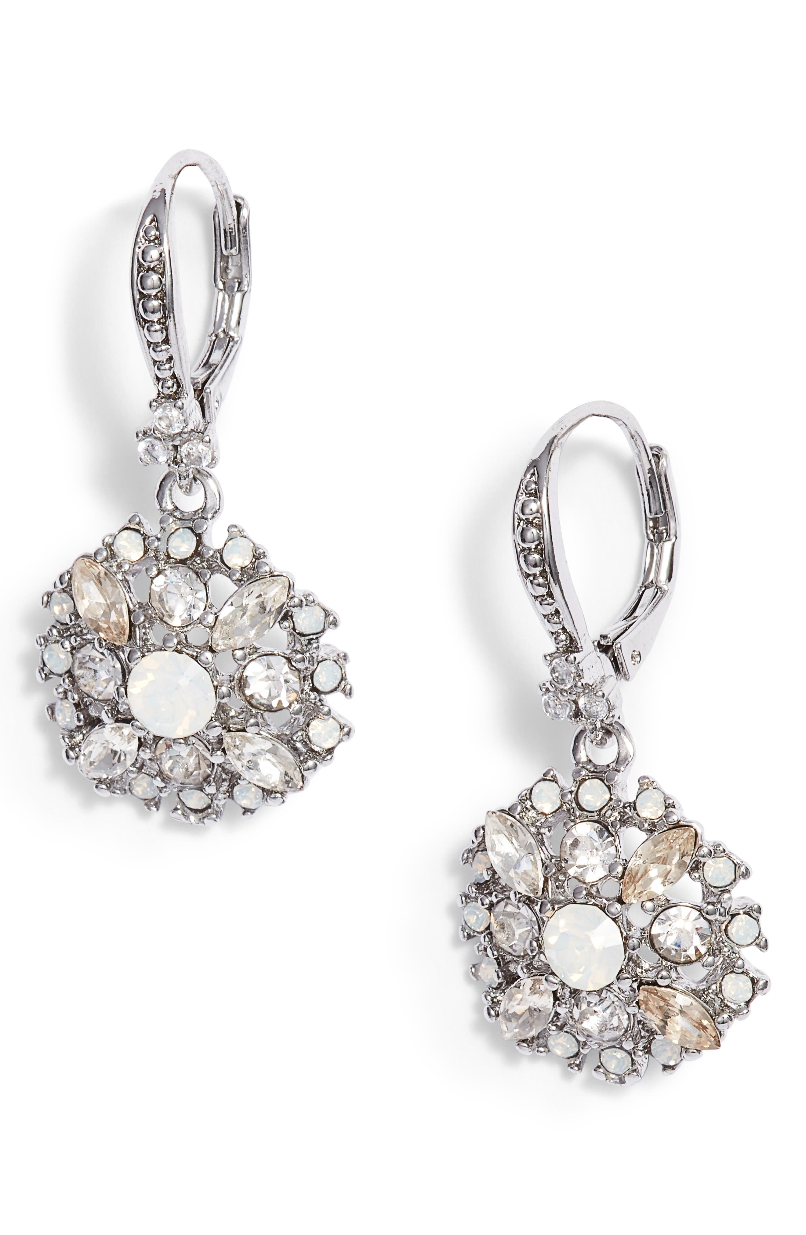 Marchesa Small Drop Sparkle Earrings