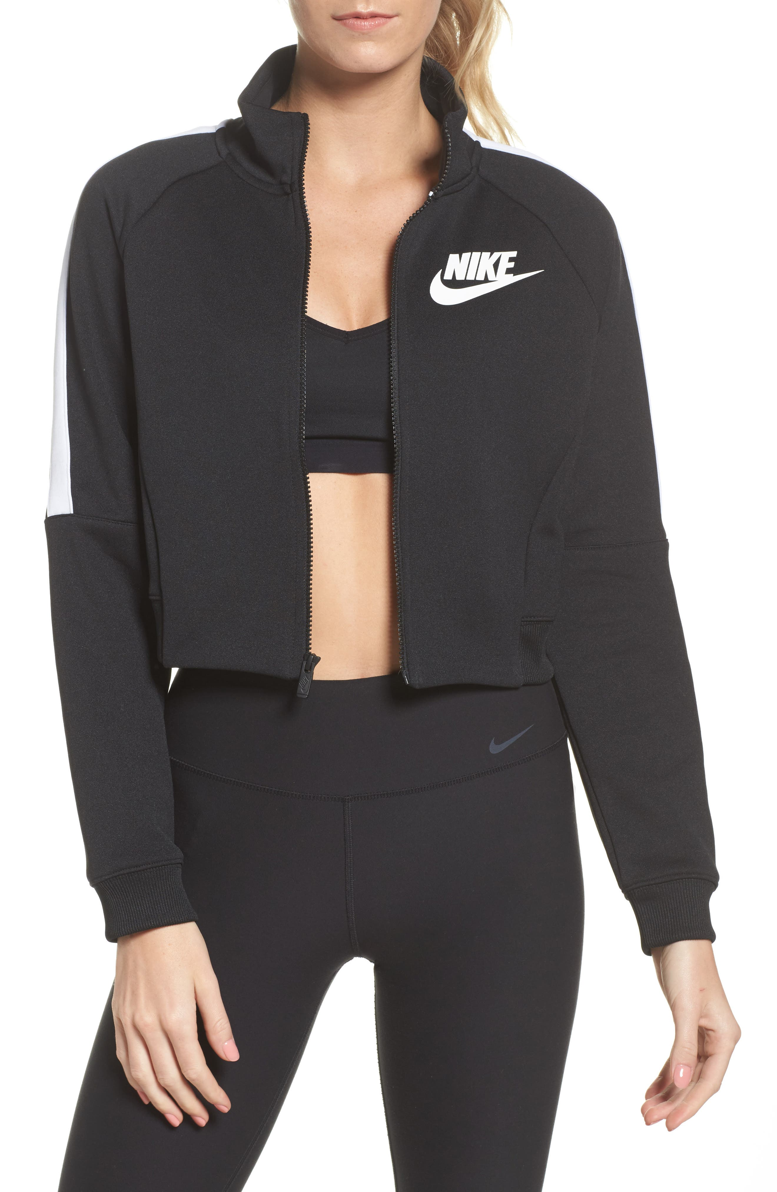 Sportswear N98 Jacket,                             Main thumbnail 1, color,                             Black/ White