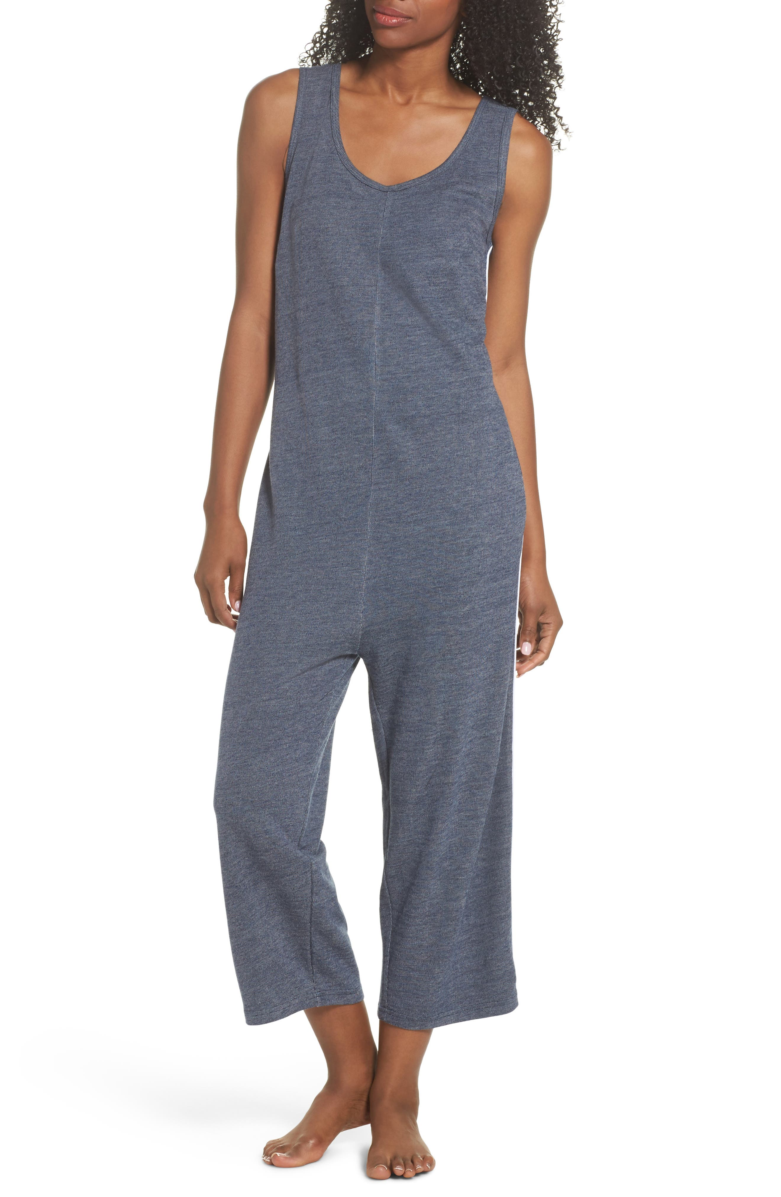 Harriet Lounge Jumpsuit,                         Main,                         color, Midnight Marle