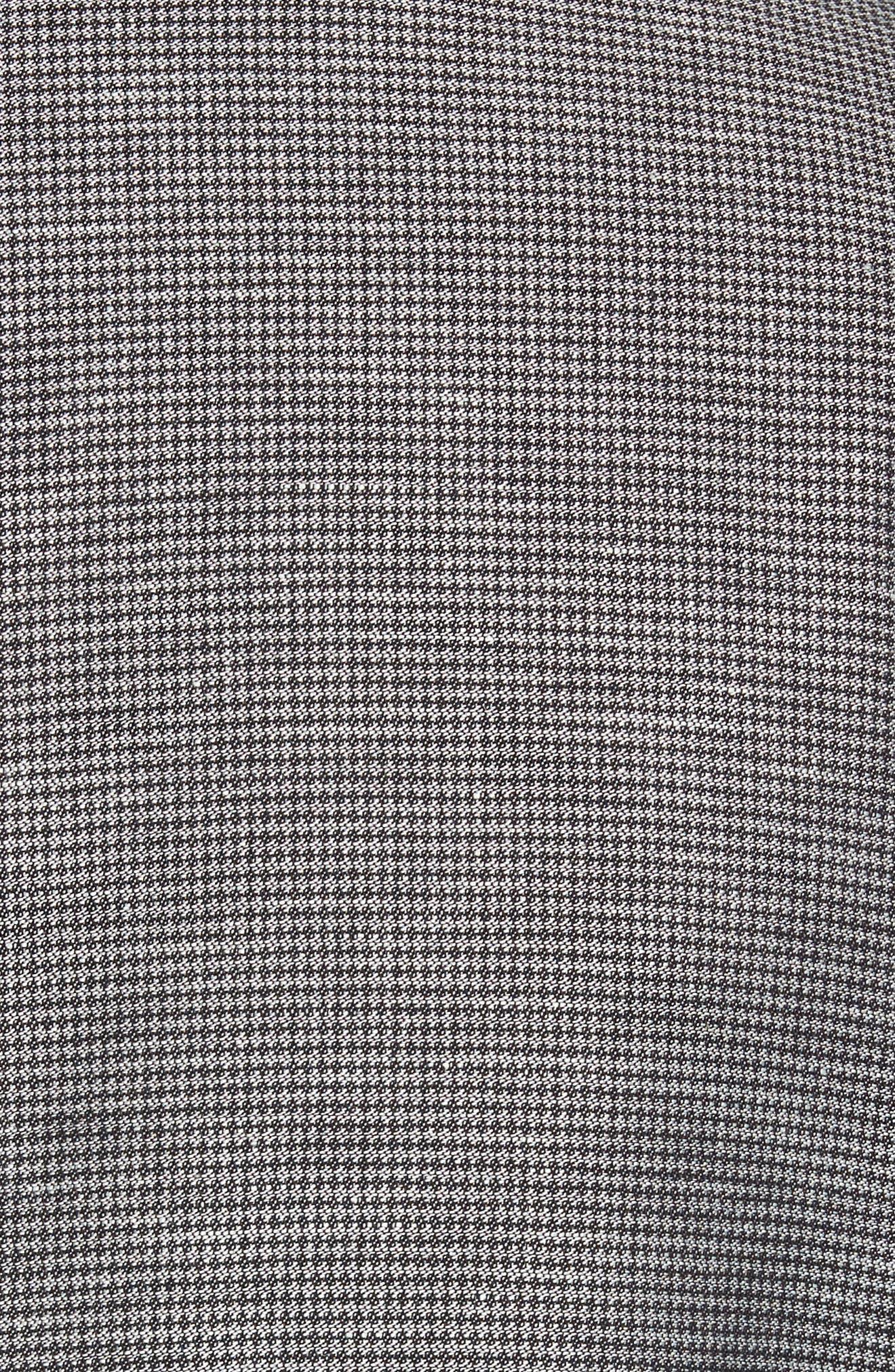 Classic Fit Houndstooth Linen & Cotton Sport Coat,                             Alternate thumbnail 5, color,                             Light/ Pastel Grey