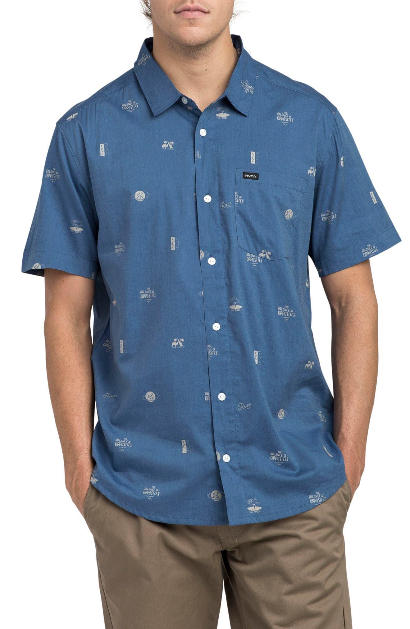 Mowgli Short Sleeve Shirt,                         Main,                         color, Cobalt