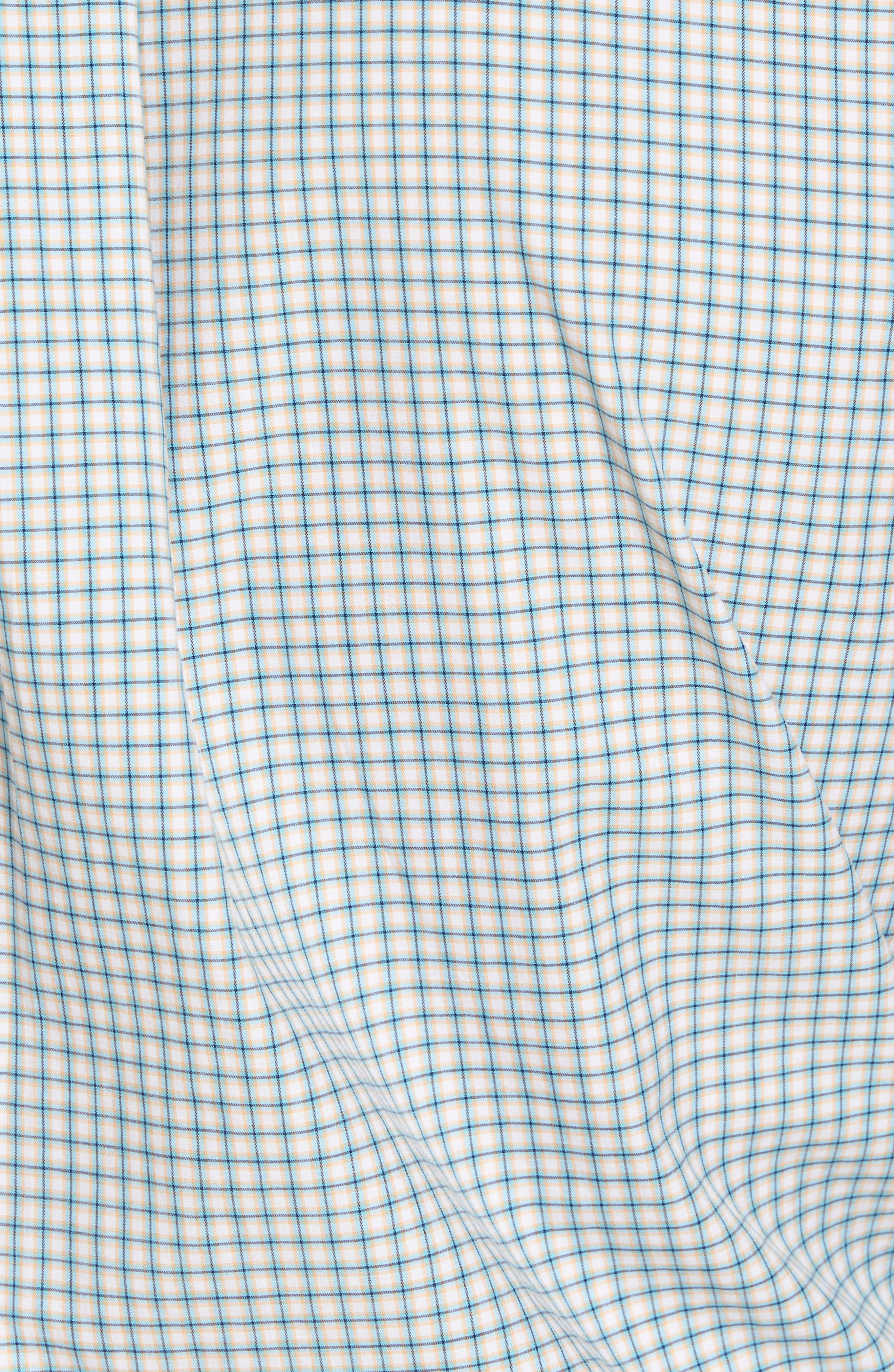 Classic Fit Alligator Check Sport Shirt,                             Alternate thumbnail 5, color,                             Dreamsicle