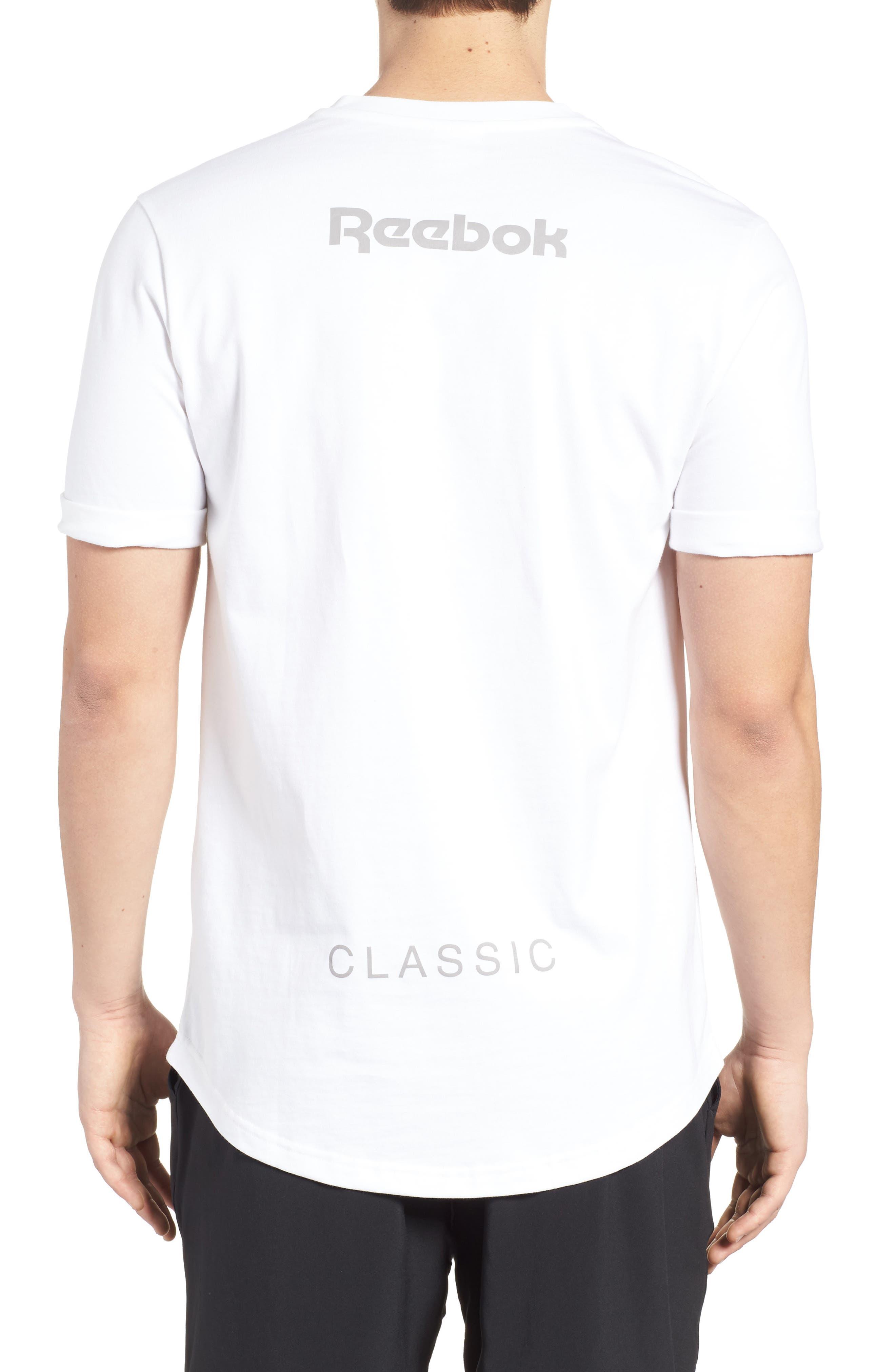 Extended Regular Crewneck T-Shirt,                             Alternate thumbnail 2, color,                             White