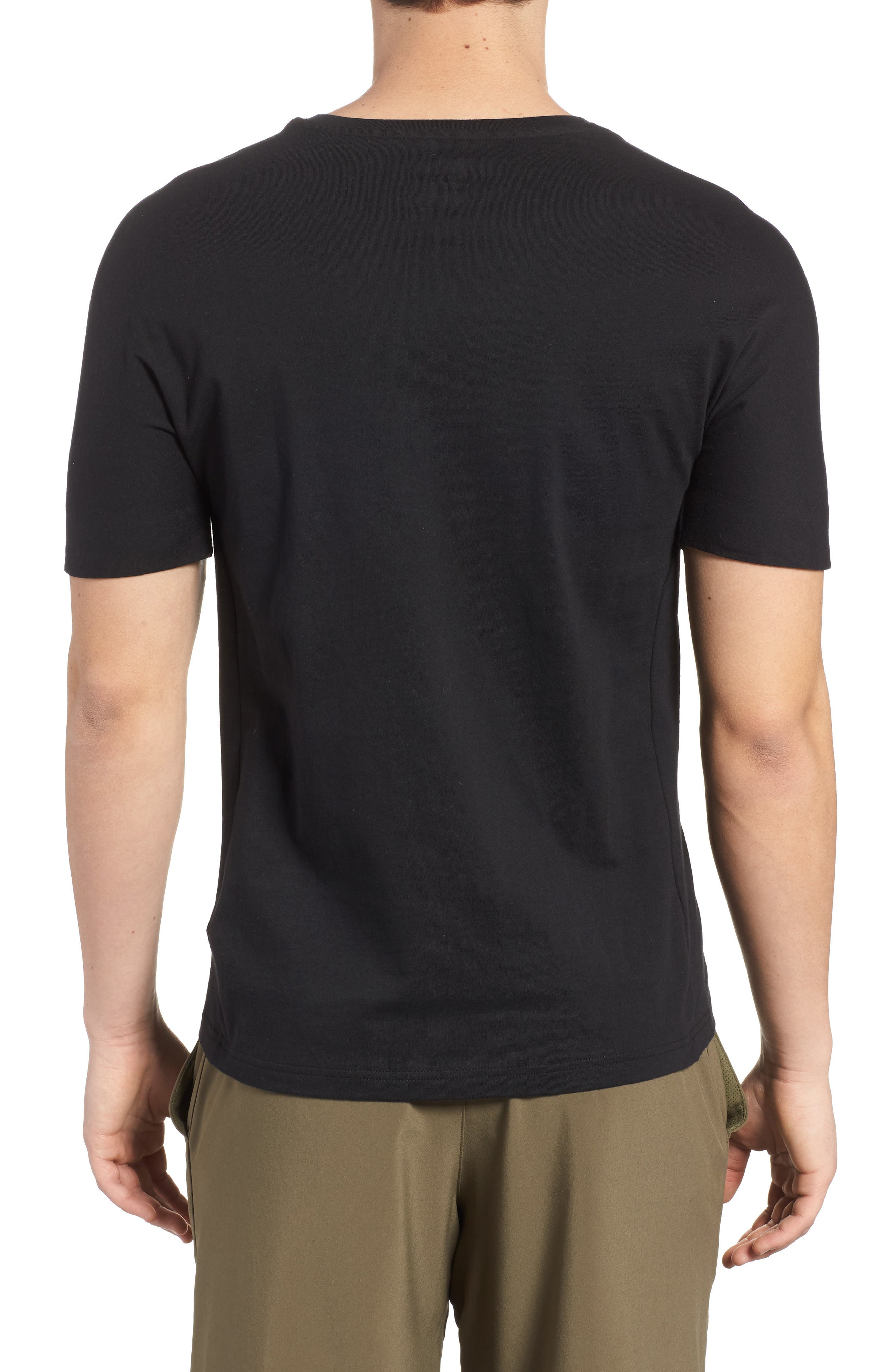 Training Supply Move Crewneck T-Shirt,                             Alternate thumbnail 2, color,                             Black