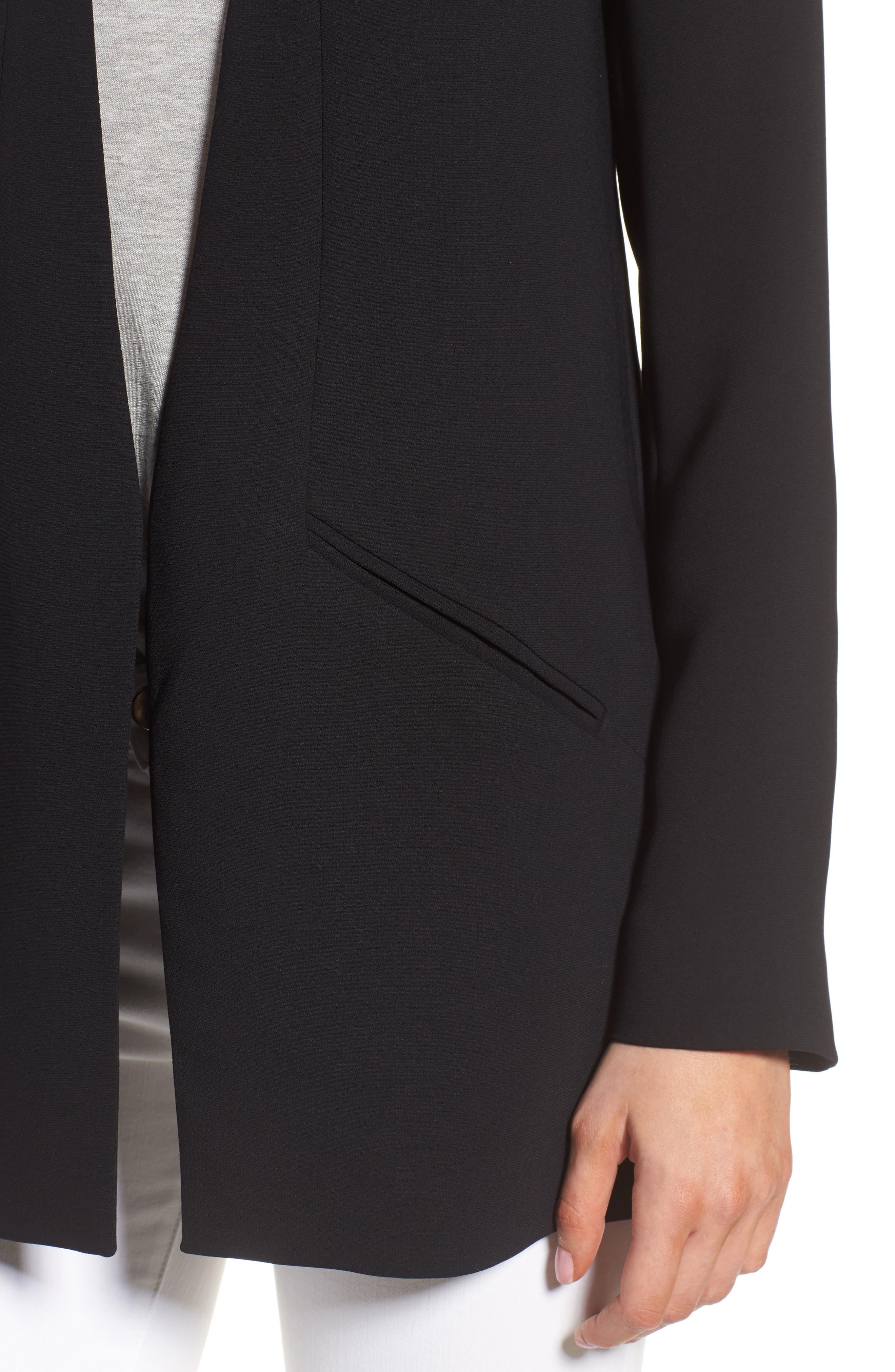 Split Back Blazer,                             Alternate thumbnail 4, color,                             Black