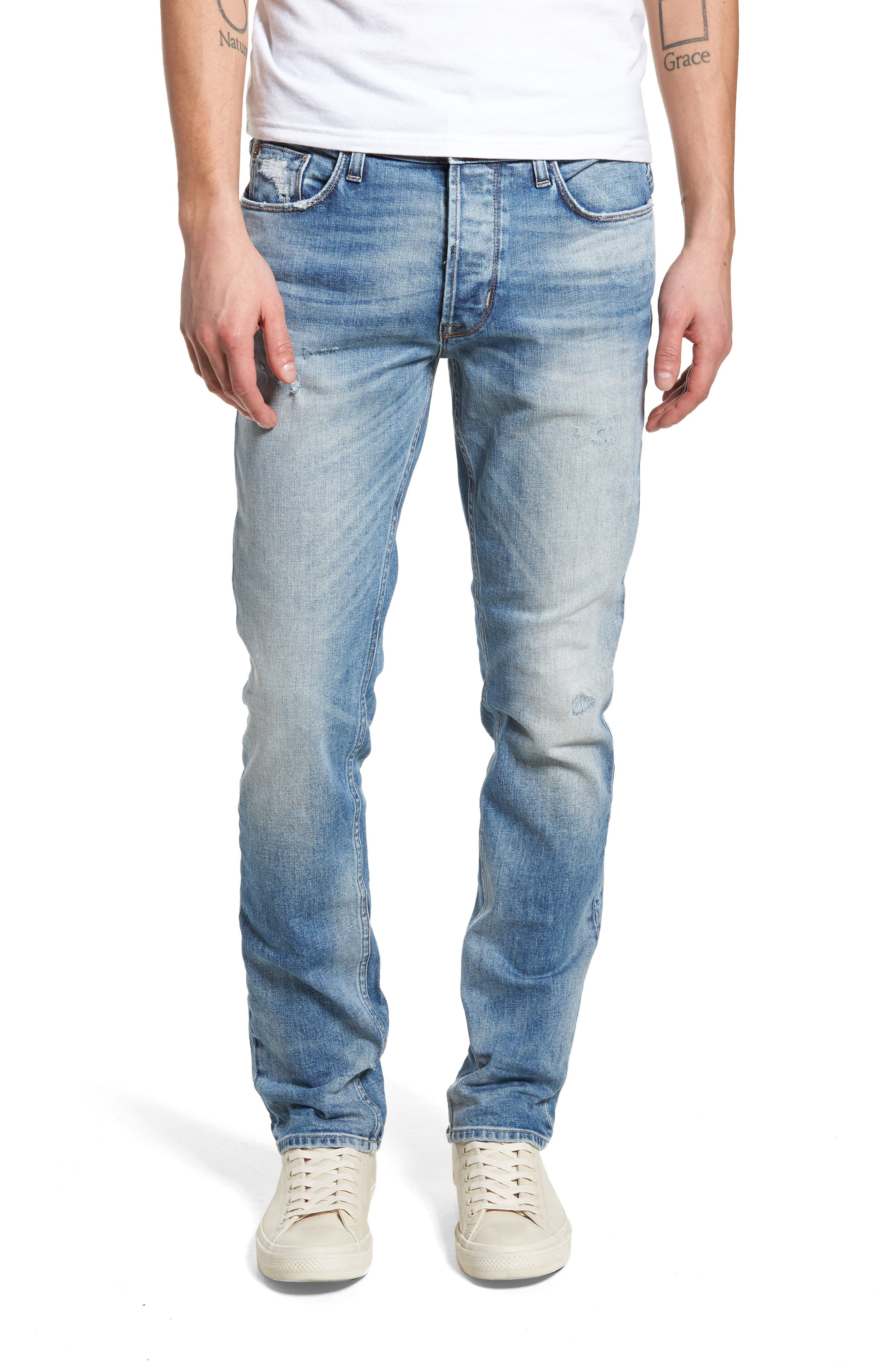 Hudson Jeans Sartor Slouchy Skinny Fit Jeans (Mural)