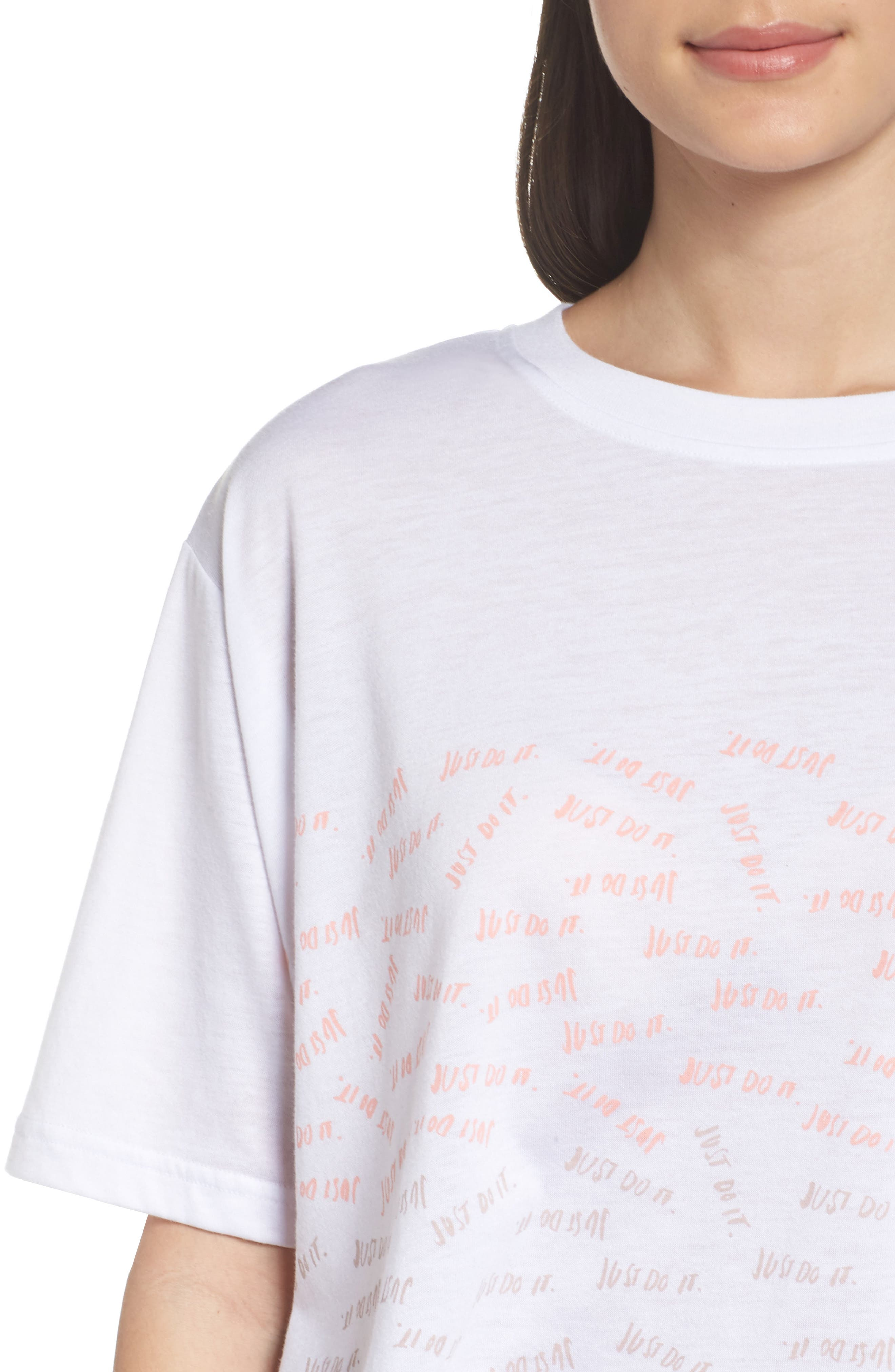 Sportswear Just Do It Tee,                             Alternate thumbnail 7, color,                             White