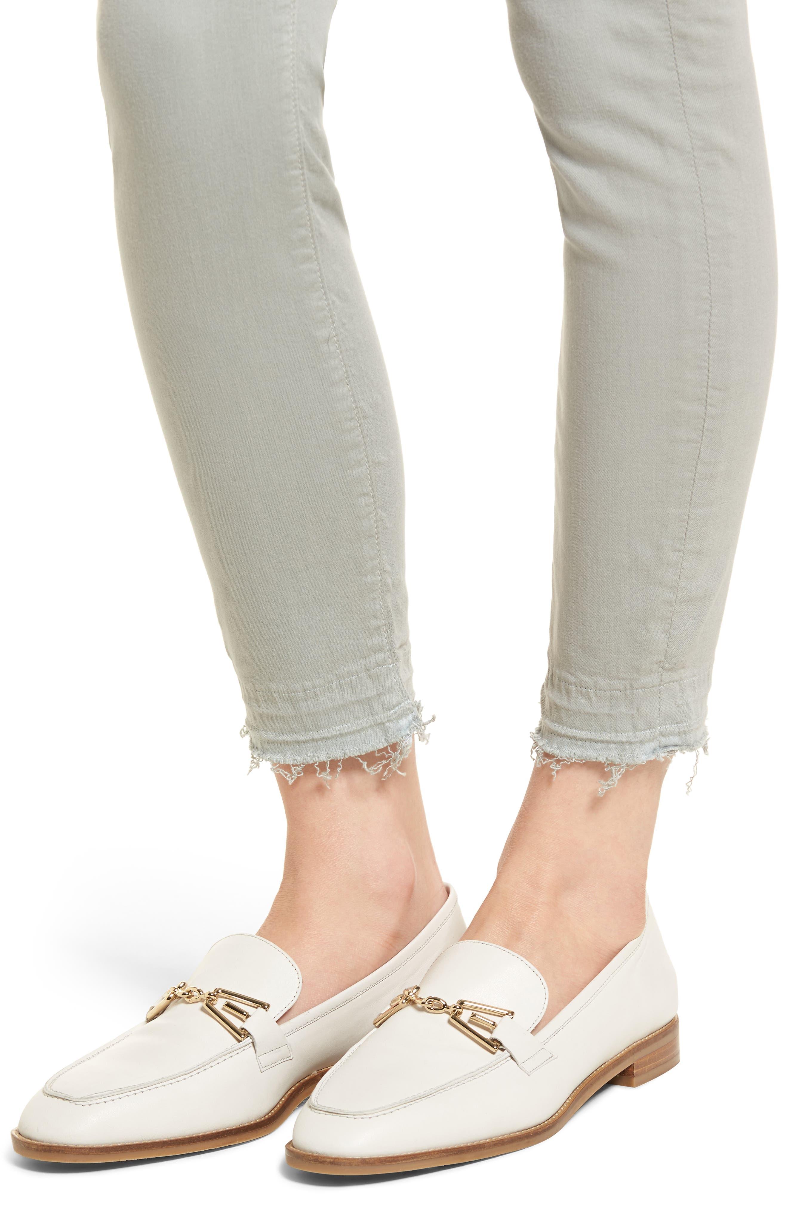 Released Hem Ankle Skinny Jeans,                             Alternate thumbnail 4, color,                             Agave