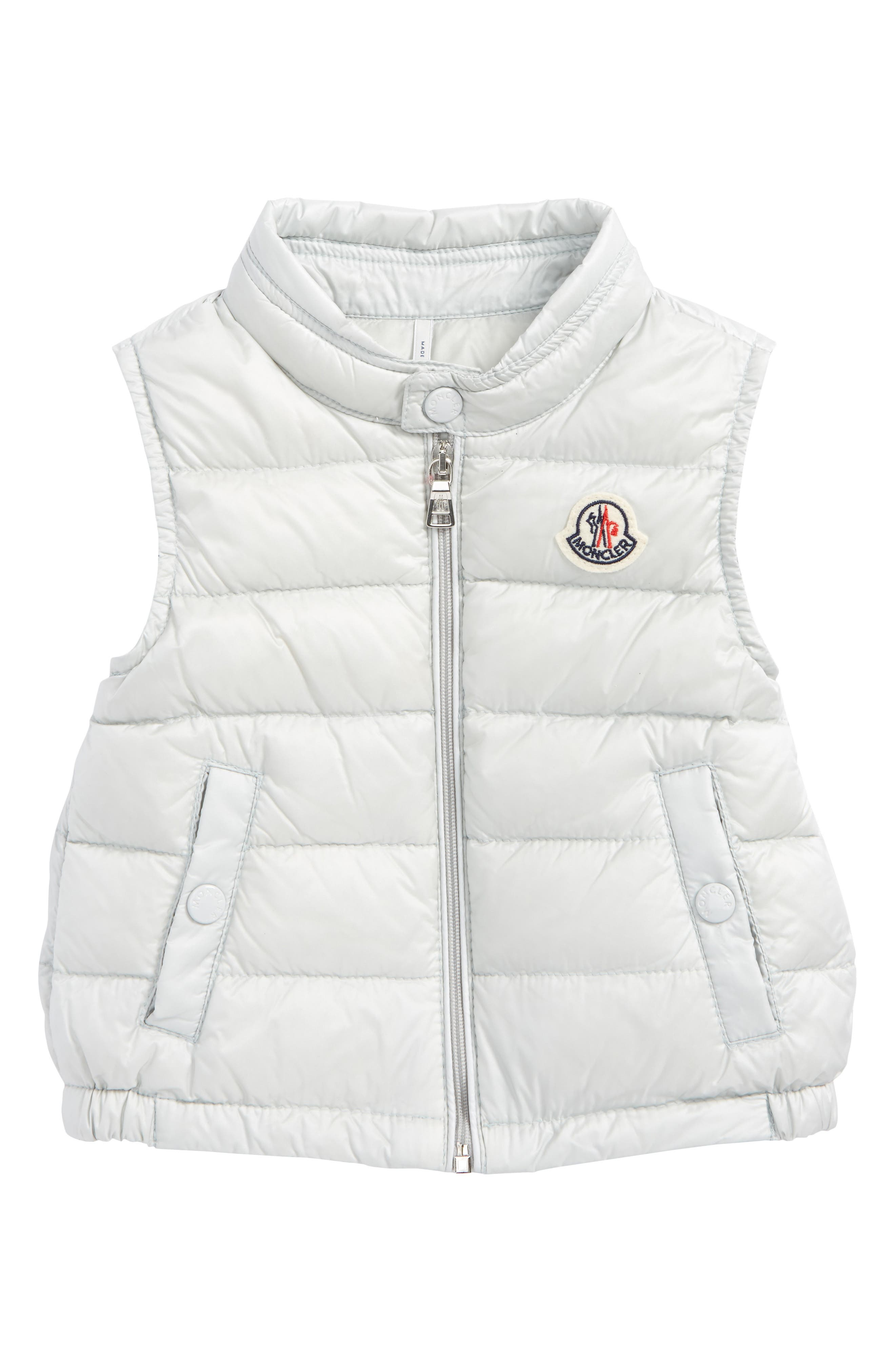 Amaury Quilted Down Vest,                         Main,                         color, Grey