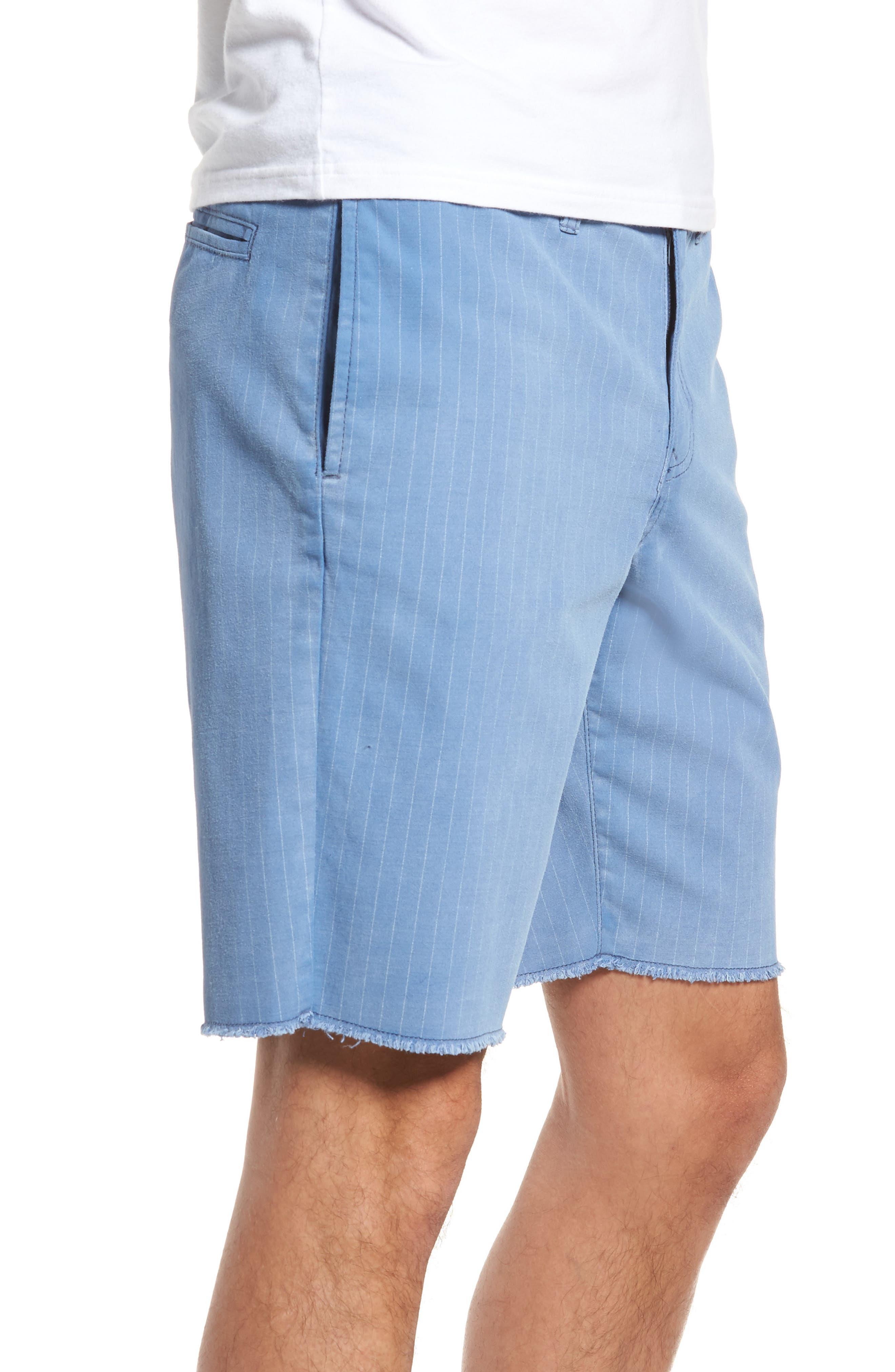Print Frost Wash Shorts,                             Alternate thumbnail 3, color,                             Blue Camp Stripe