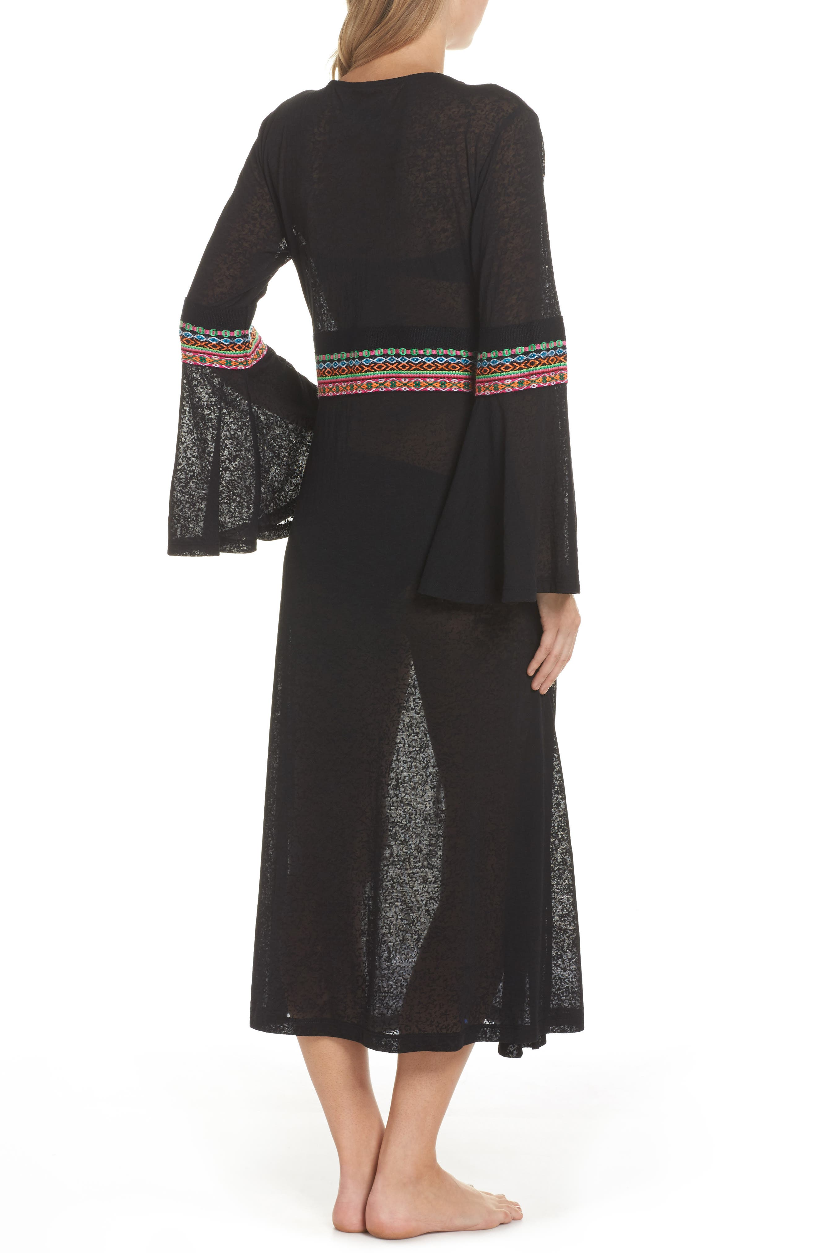 Embroidered Cover-Up,                             Alternate thumbnail 2, color,                             Black