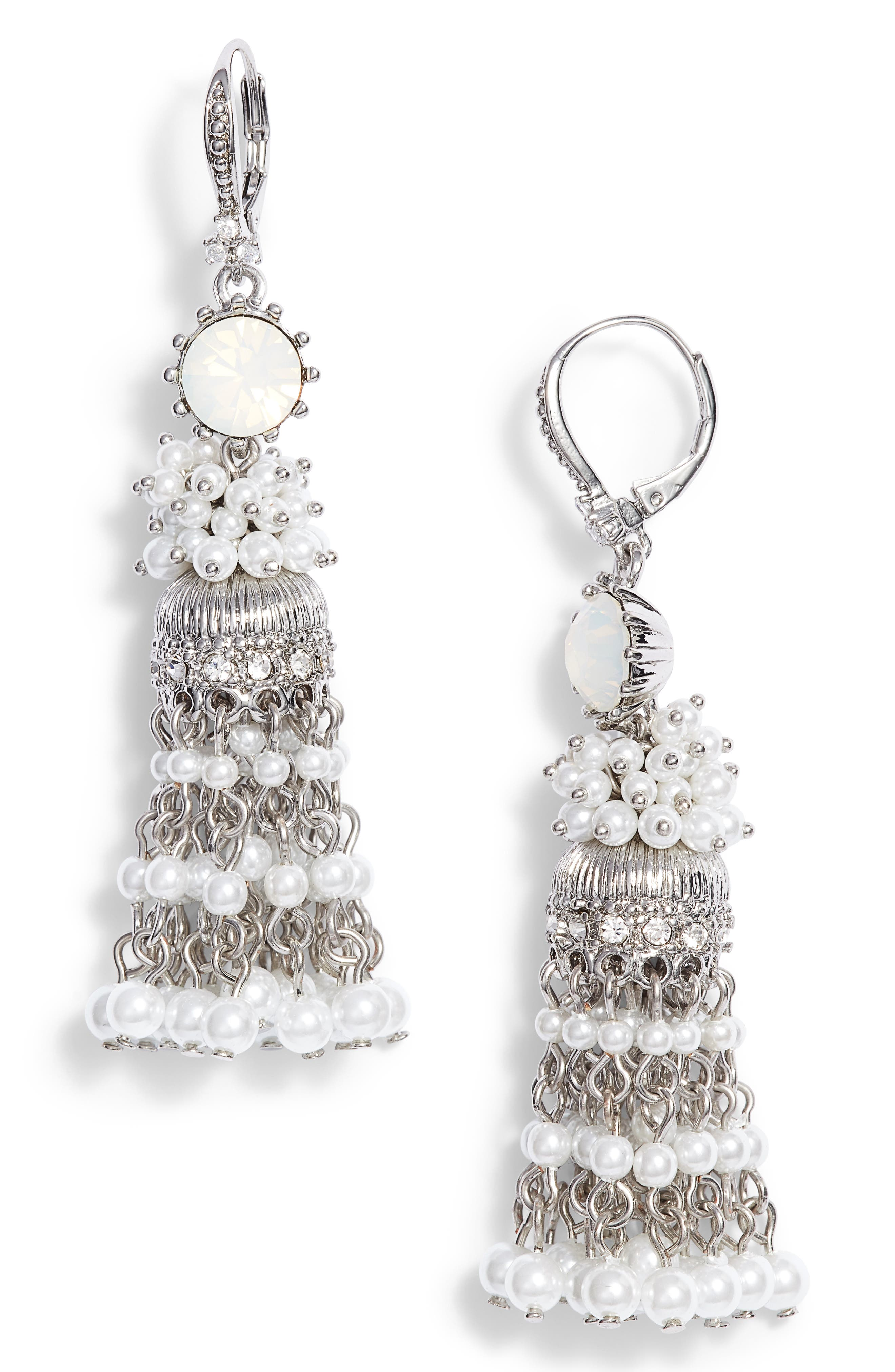 Marchesa Tassel Linear Drop Earrings
