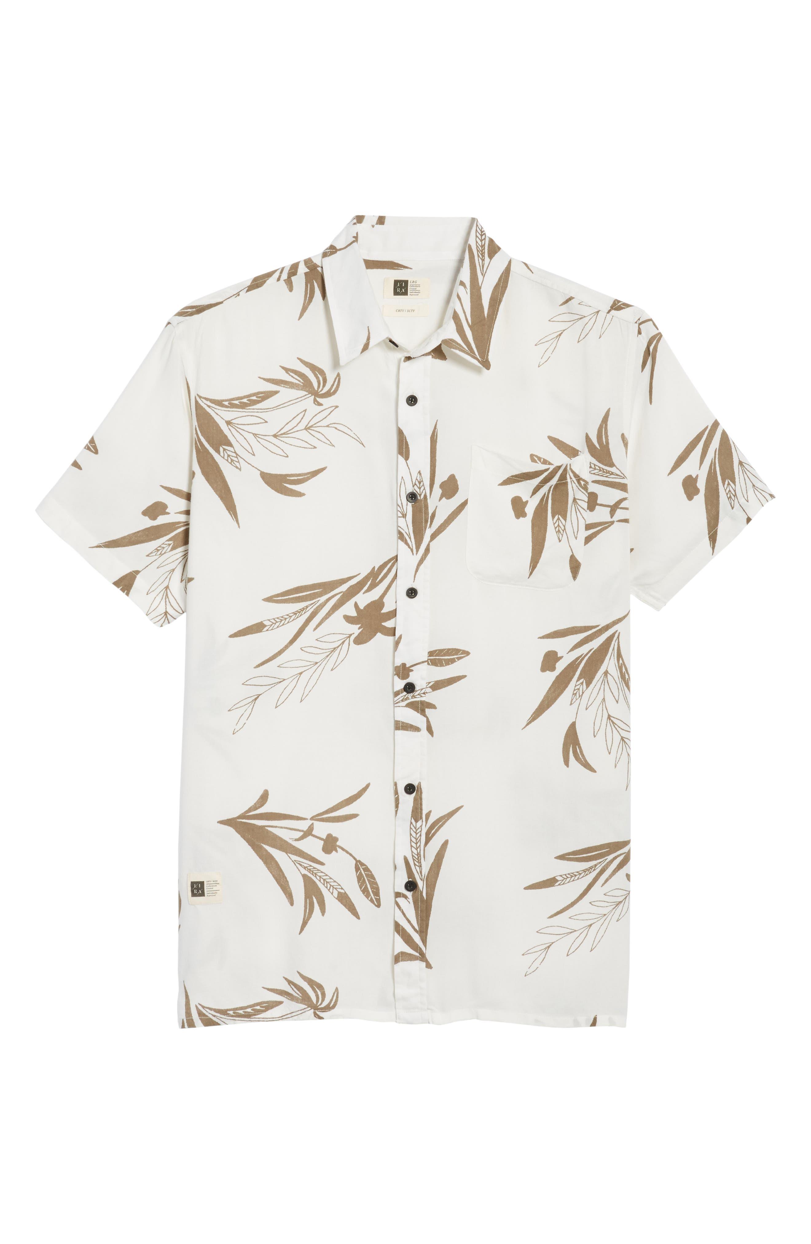 Simmer Short Sleeve Shirt,                             Alternate thumbnail 6, color,                             Vintage White