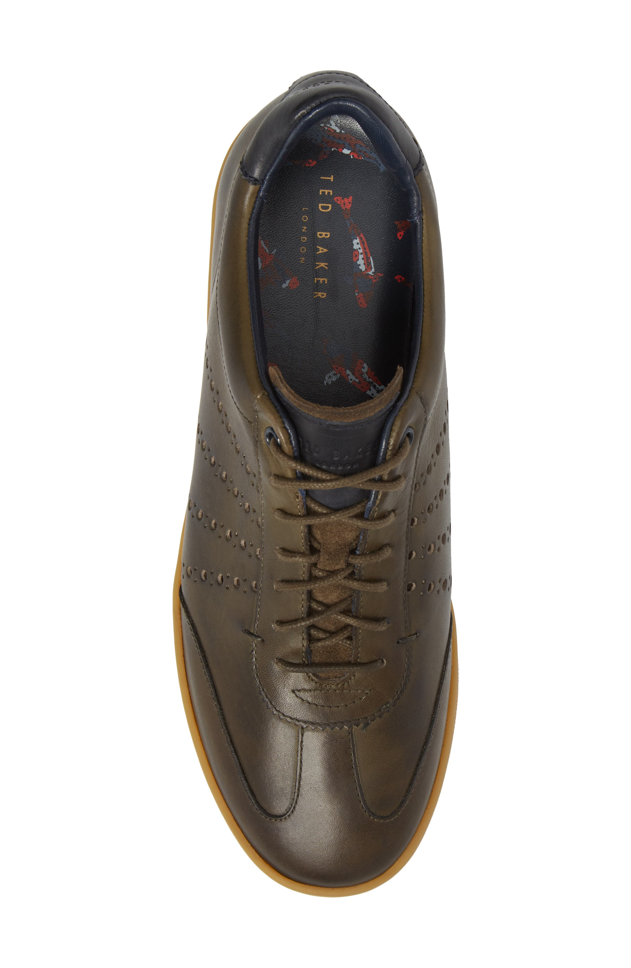 Orlee Sneaker,                             Alternate thumbnail 4, color,                             Dark Green Leather
