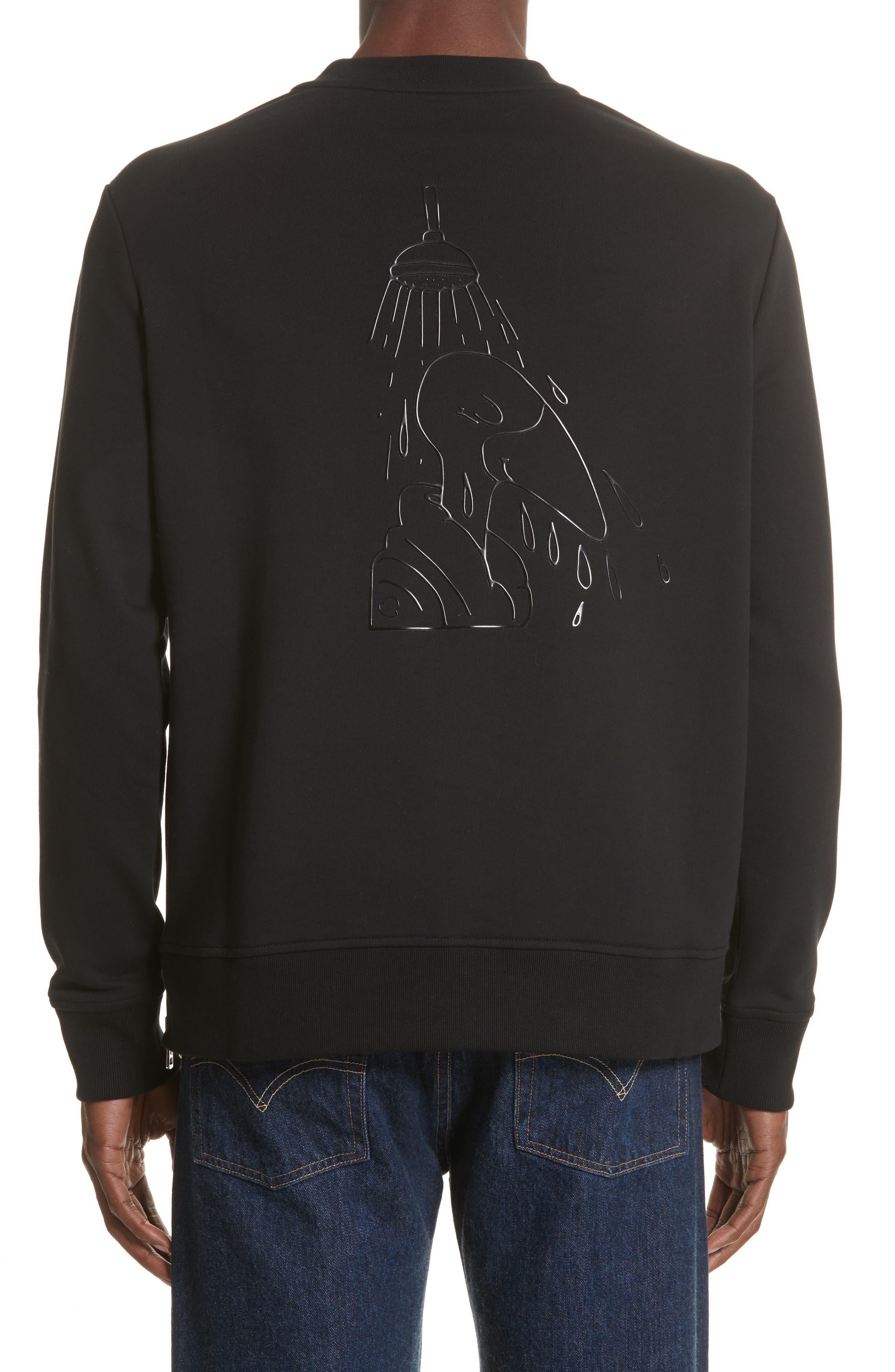 Maglia Griccollo Side Zip Crewneck Sweatshirt,                             Alternate thumbnail 2, color,                             Black