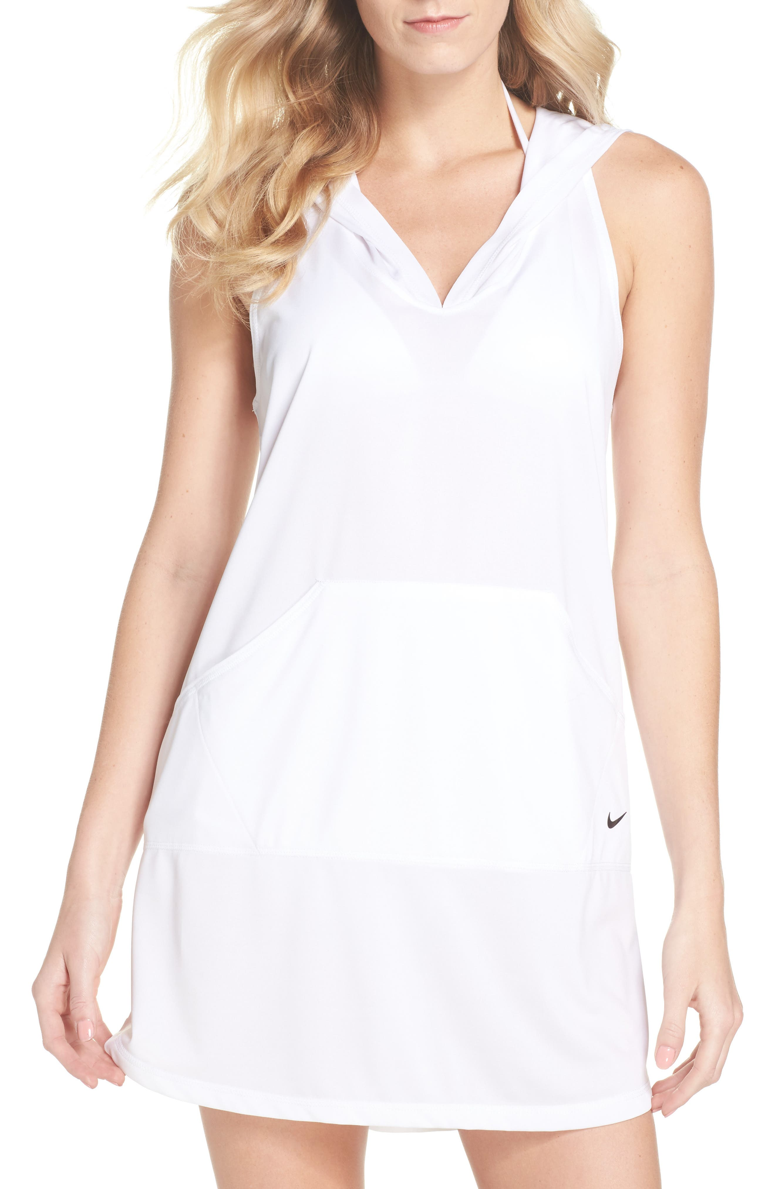 HOODED COVER-UP DRESS