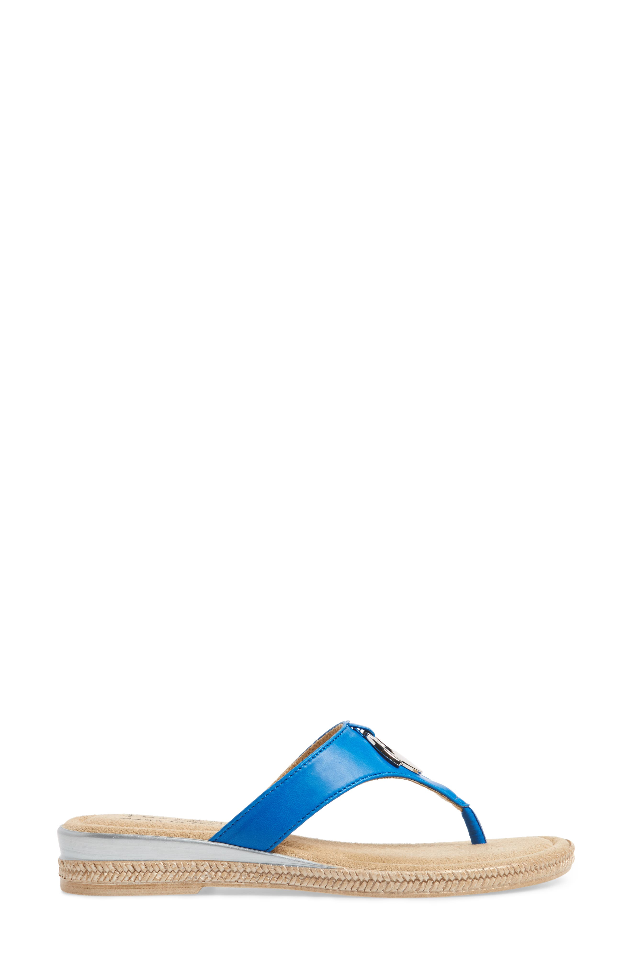 by Easy Street<sup>®</sup> Belinda Flip Flop,                             Alternate thumbnail 3, color,                             Blue Faux Leather