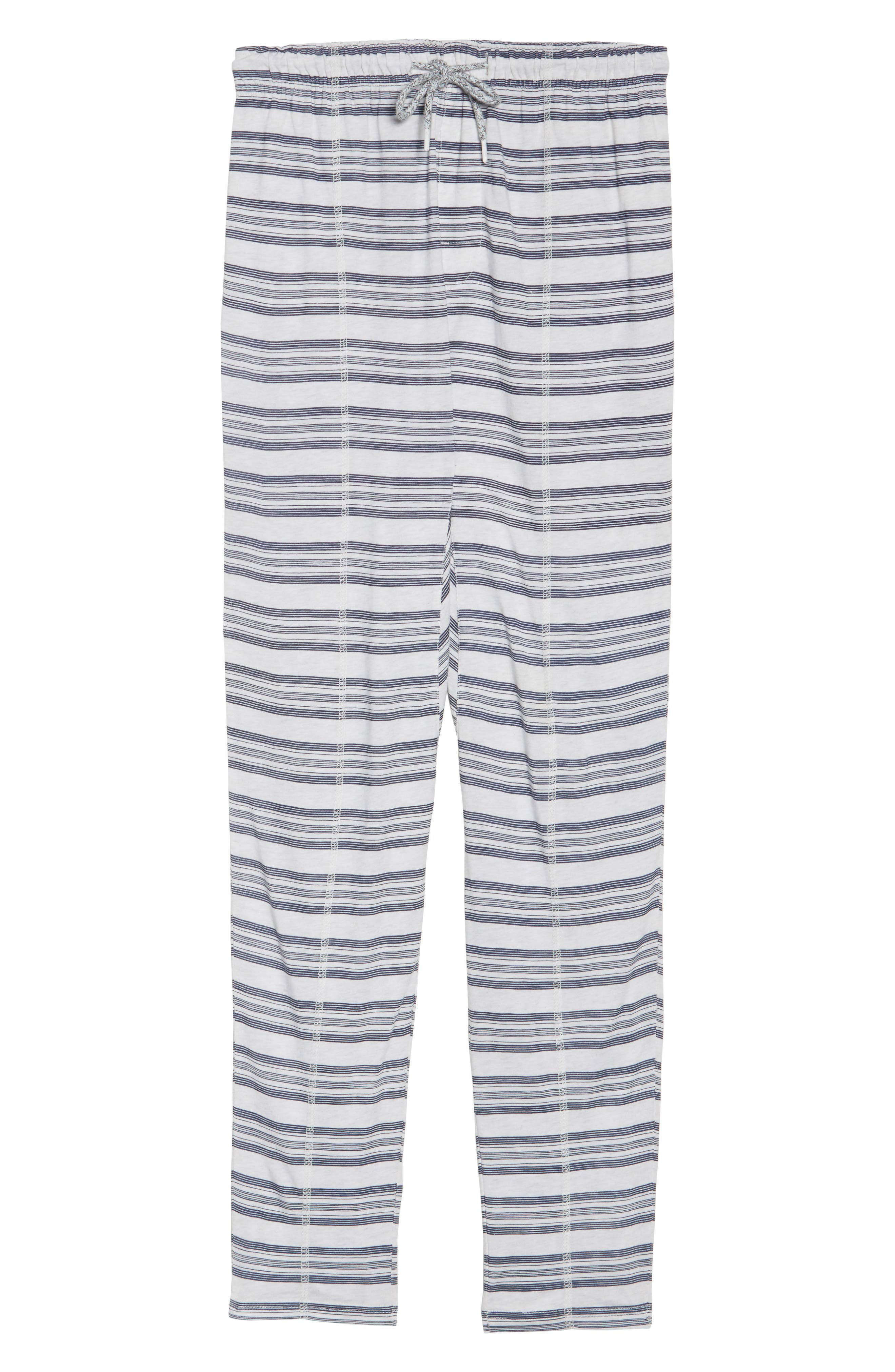 Alice Lounge Pants,                             Alternate thumbnail 4, color,                             Snow Marle Stripe