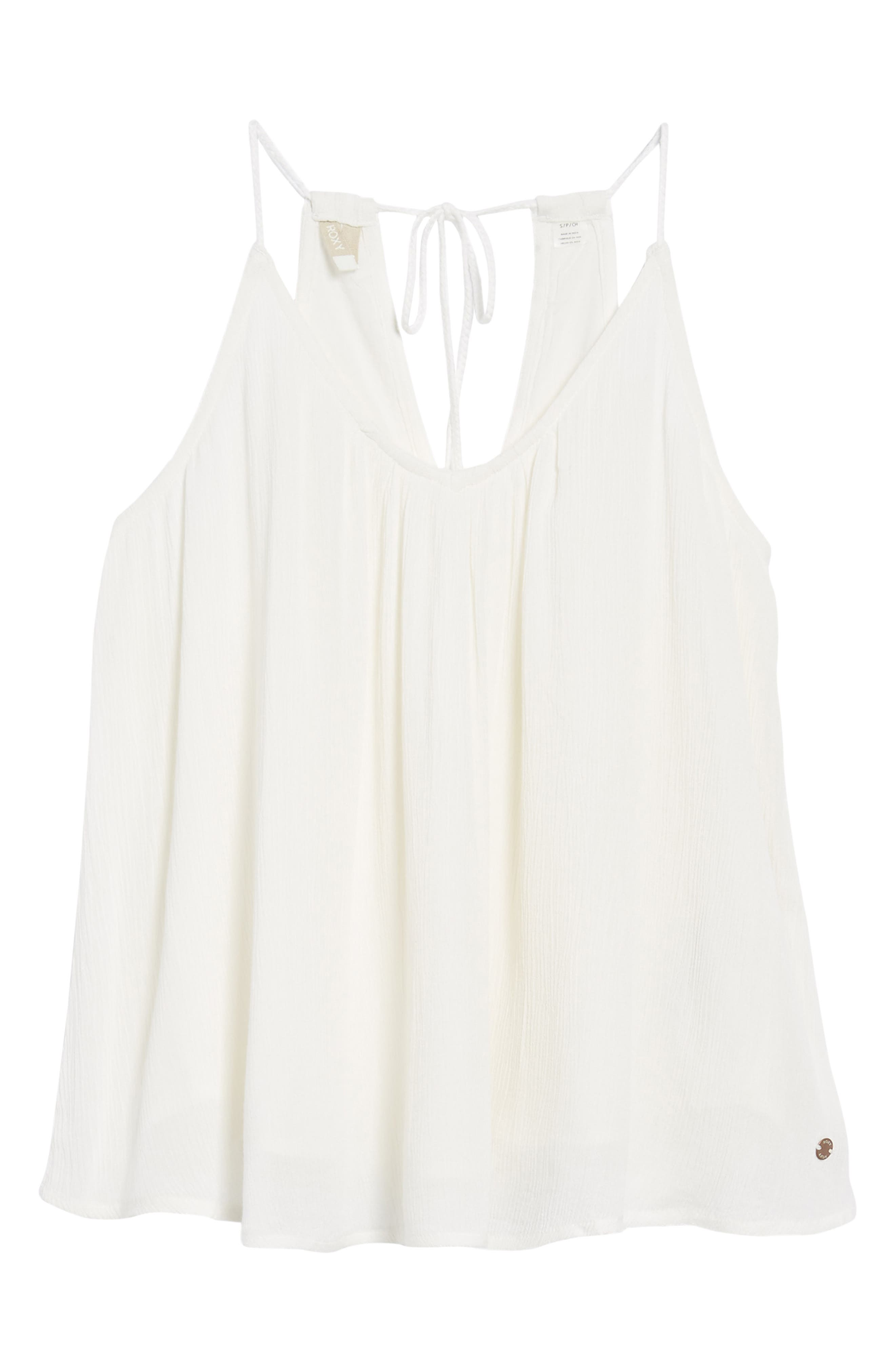 Local in the Sky Tie Back Tank,                             Alternate thumbnail 6, color,                             Marshmallow