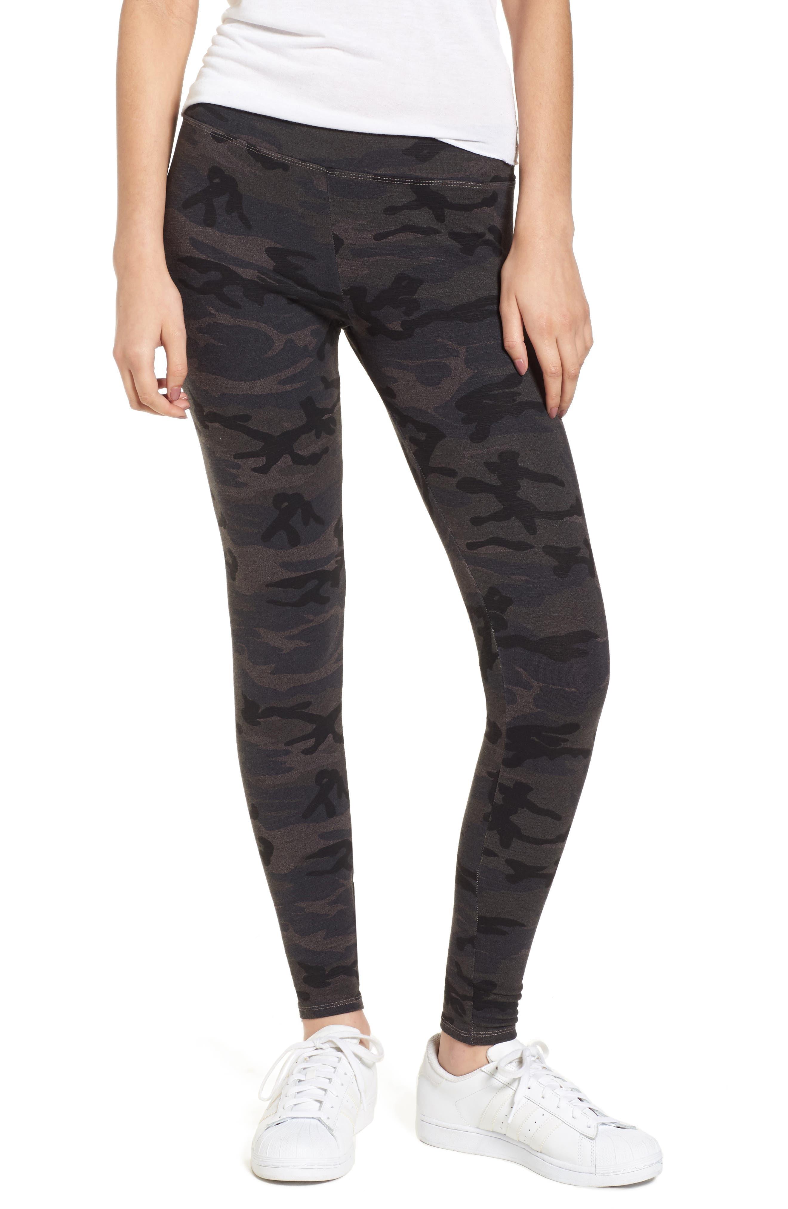 Camo Yoga Pants,                         Main,                         color, Charcoal