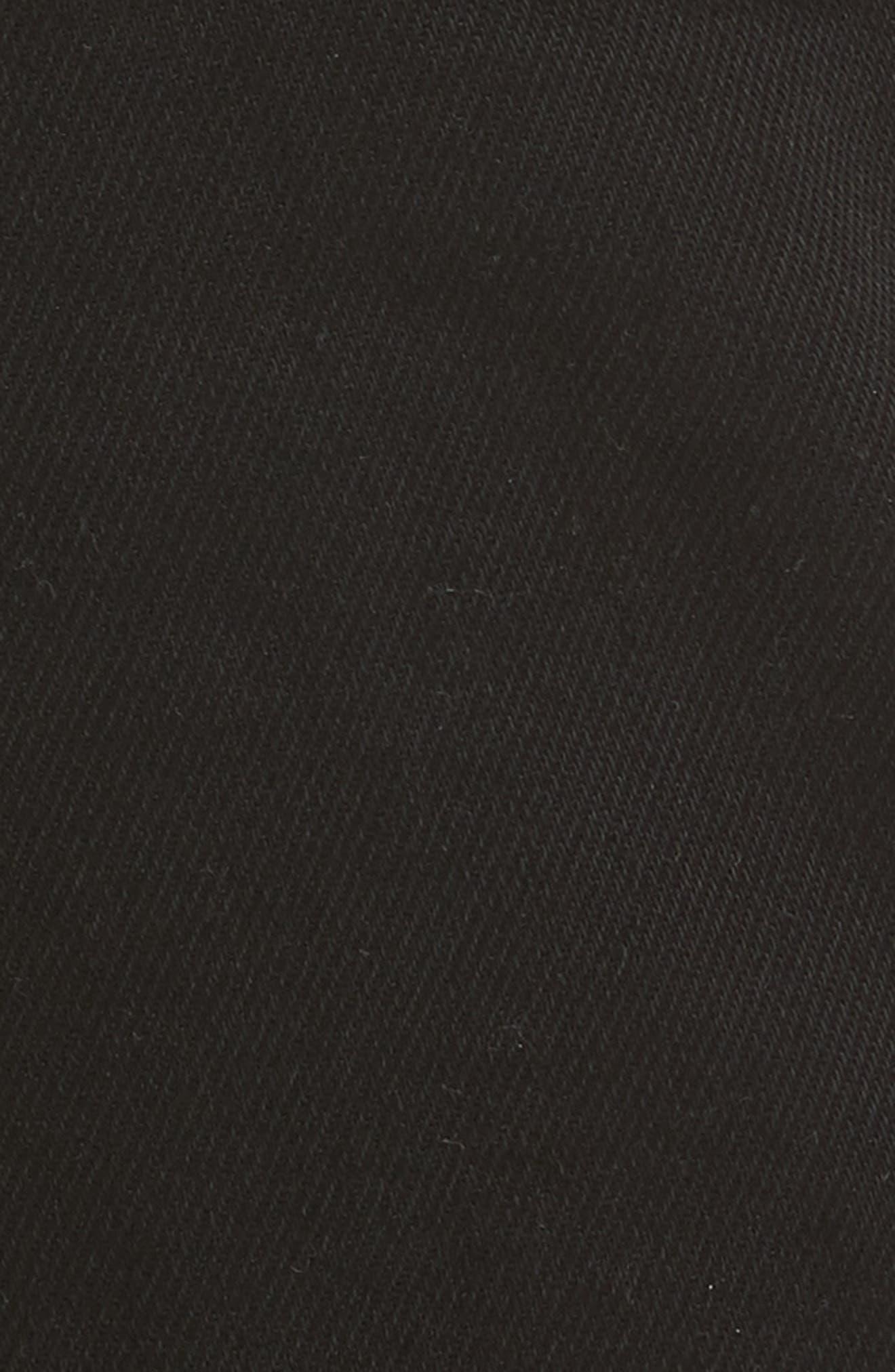 Moto Jeans,                             Alternate thumbnail 5, color,                             Black Denim