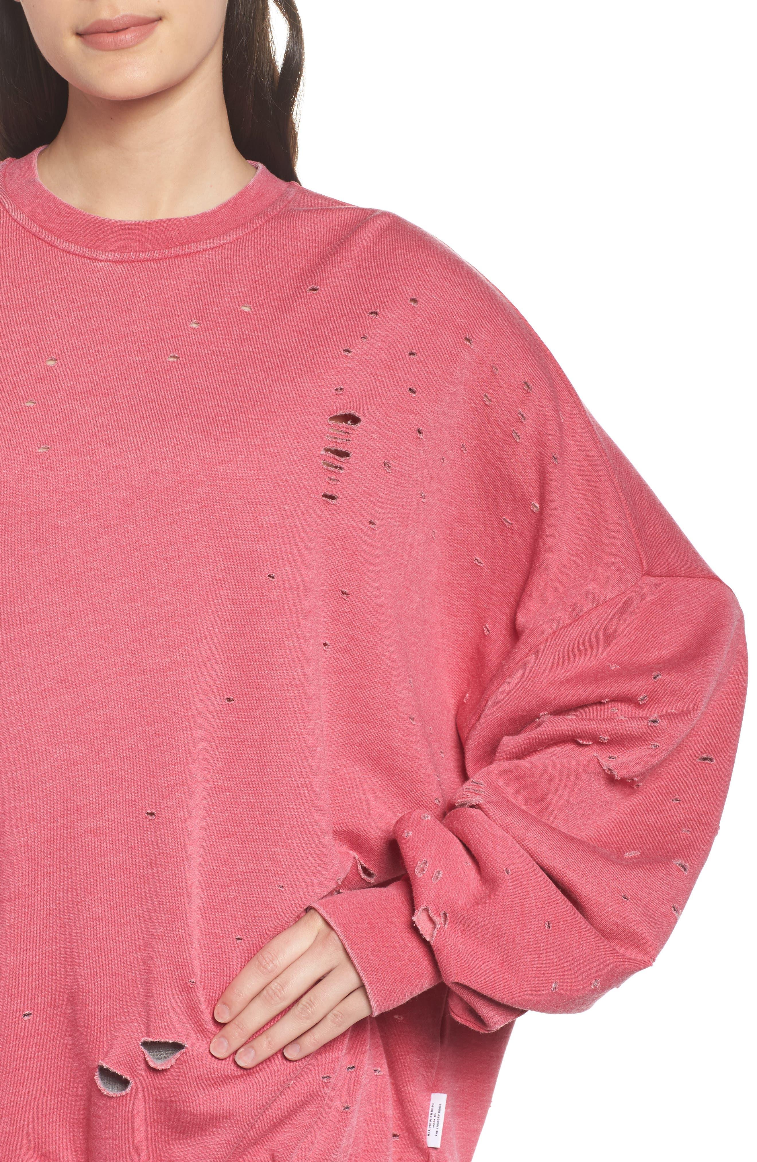 Thrasher Sweatshirt,                             Alternate thumbnail 4, color,                             Flamingo