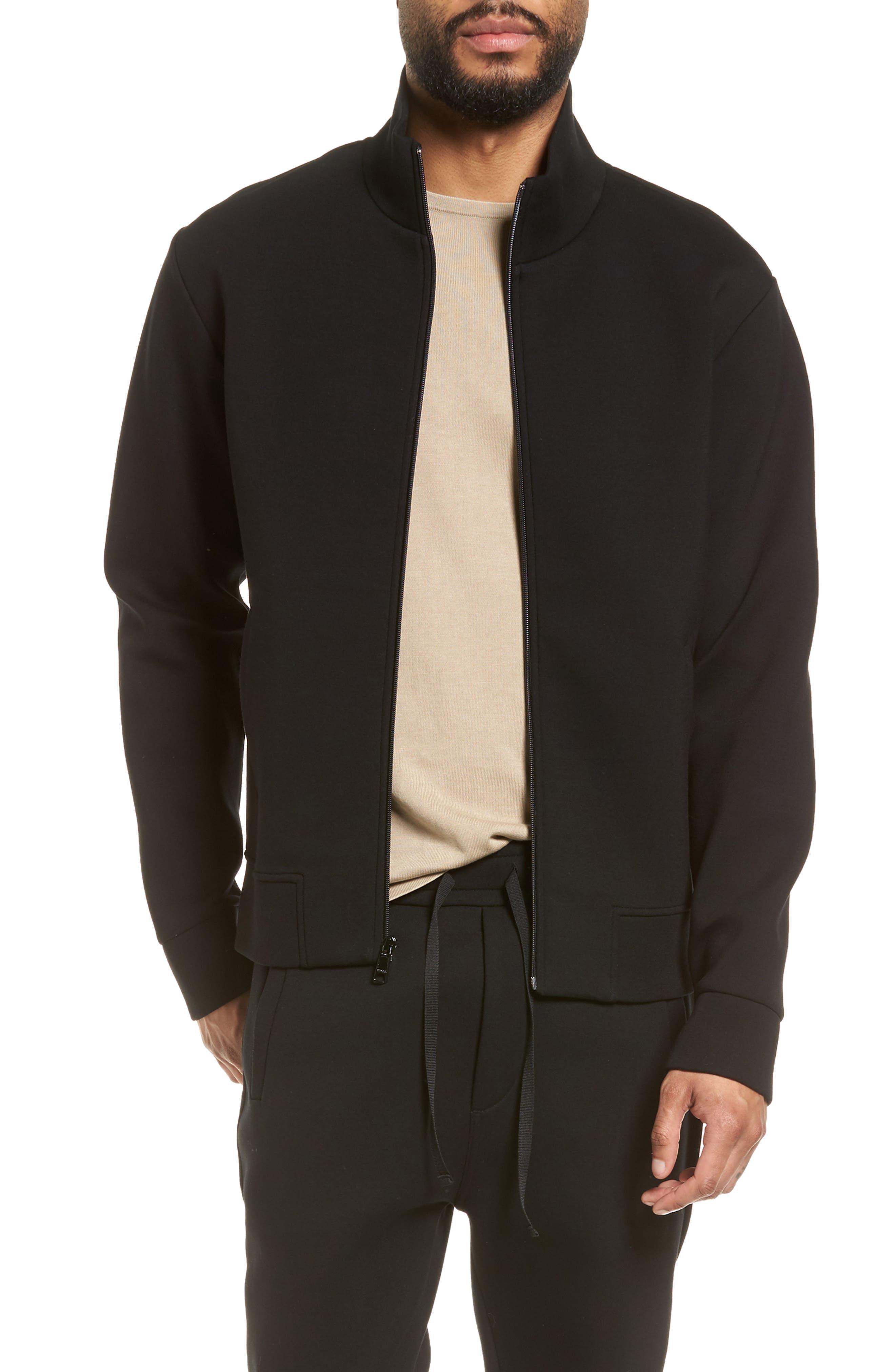 Slim Fit Tech Jacket,                         Main,                         color, Black