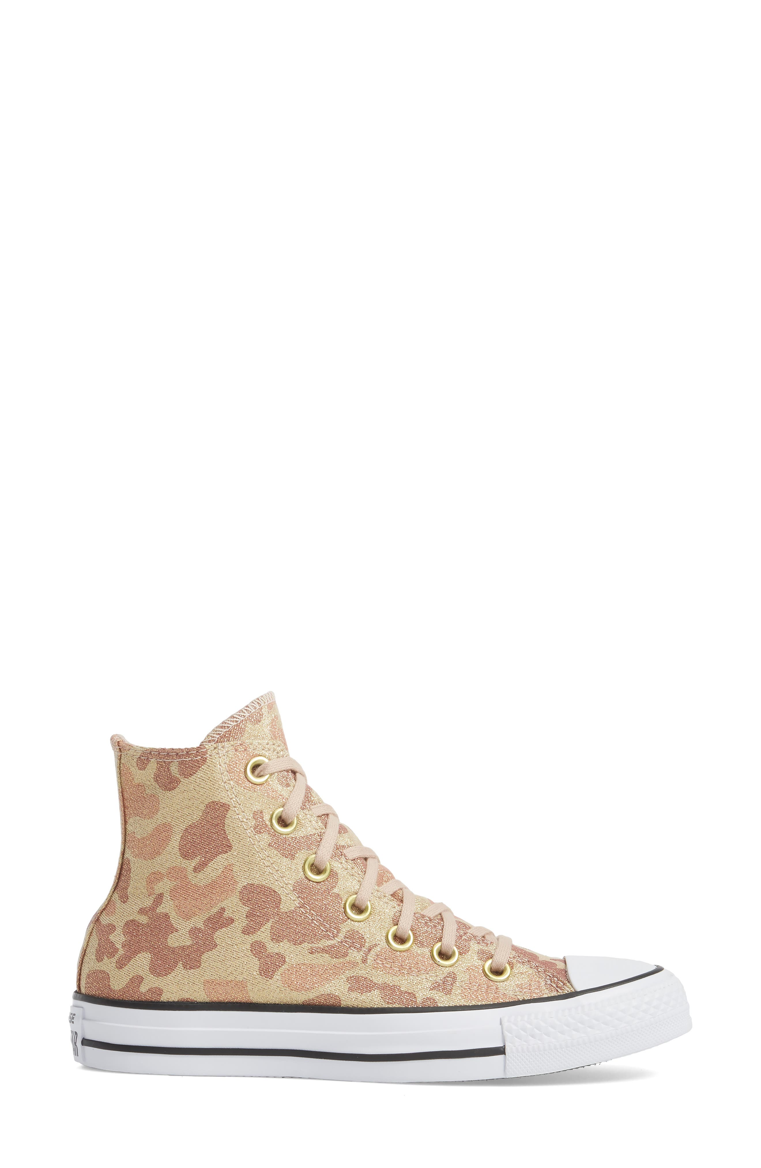 Chuck Taylor<sup>®</sup> All Star<sup>®</sup> High Top Sneaker,                             Alternate thumbnail 3, color,                             Particle Beige