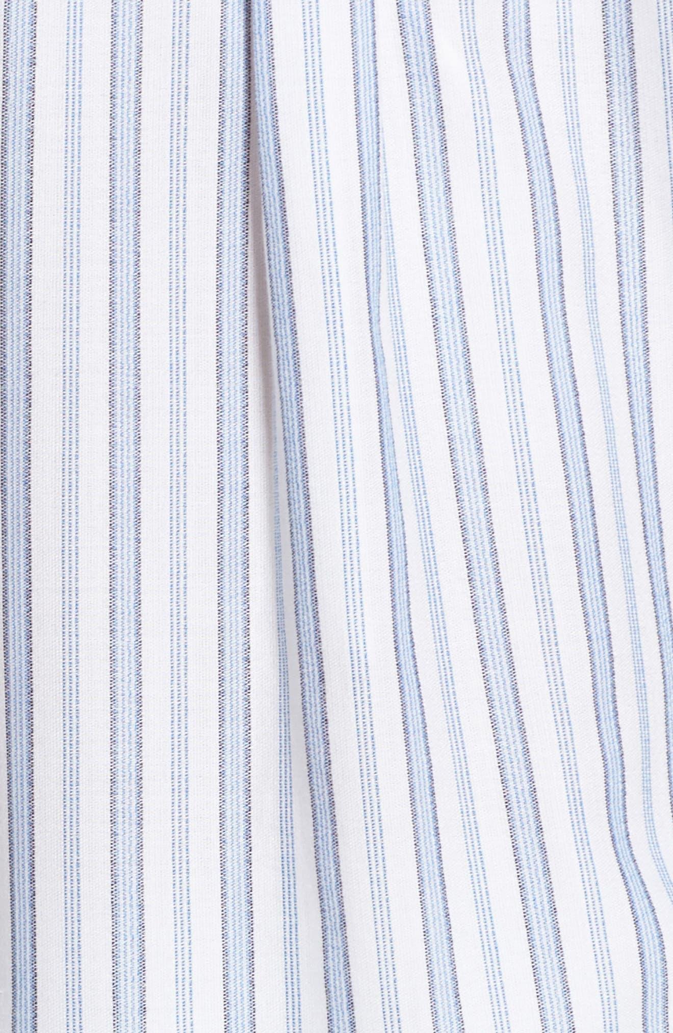 Ticking Stripe Cover-Up Shirtdress,                             Alternate thumbnail 5, color,                             White