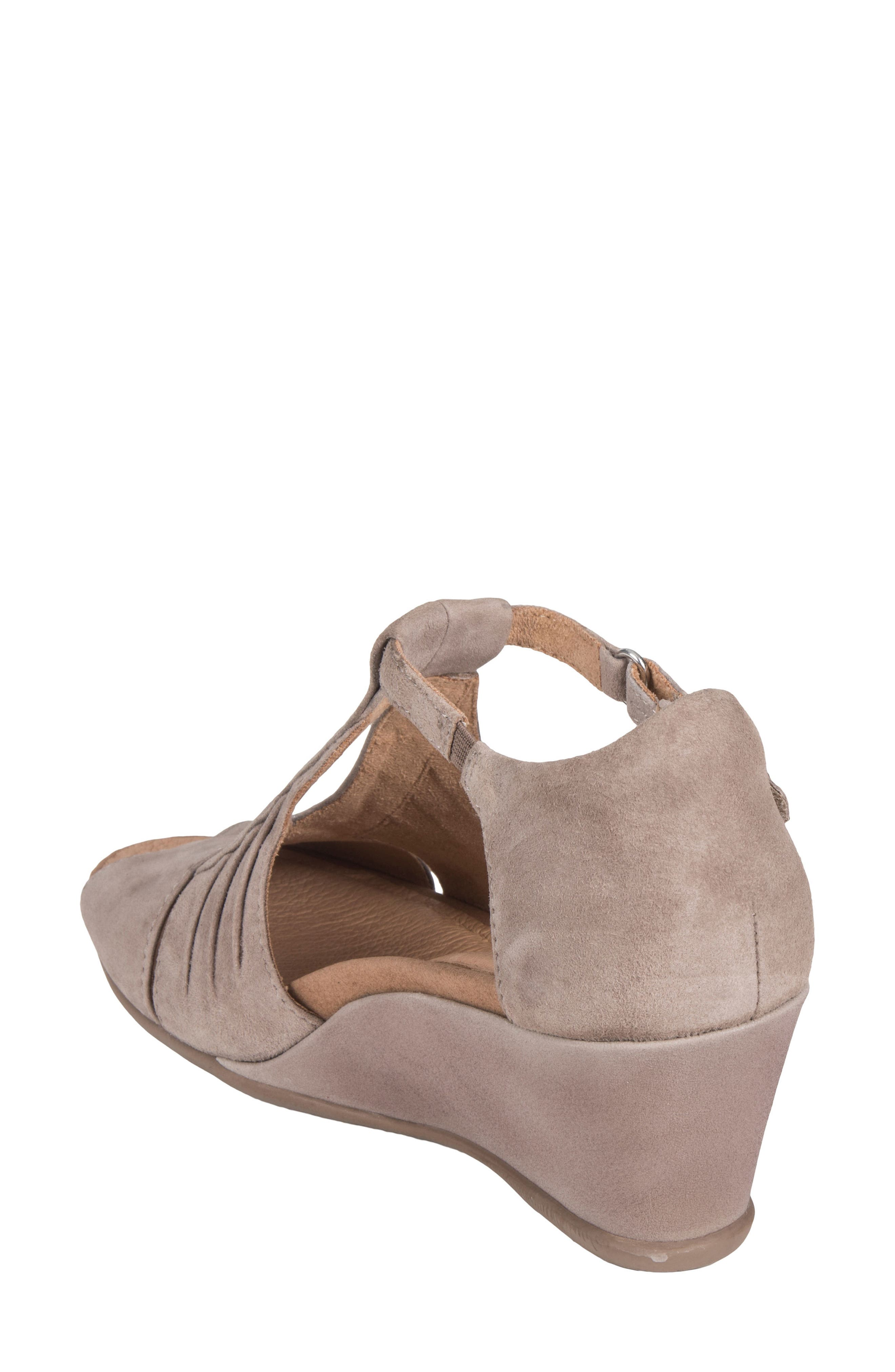 Primrose Wedge Sandal,                             Alternate thumbnail 2, color,                             Ginger Suede