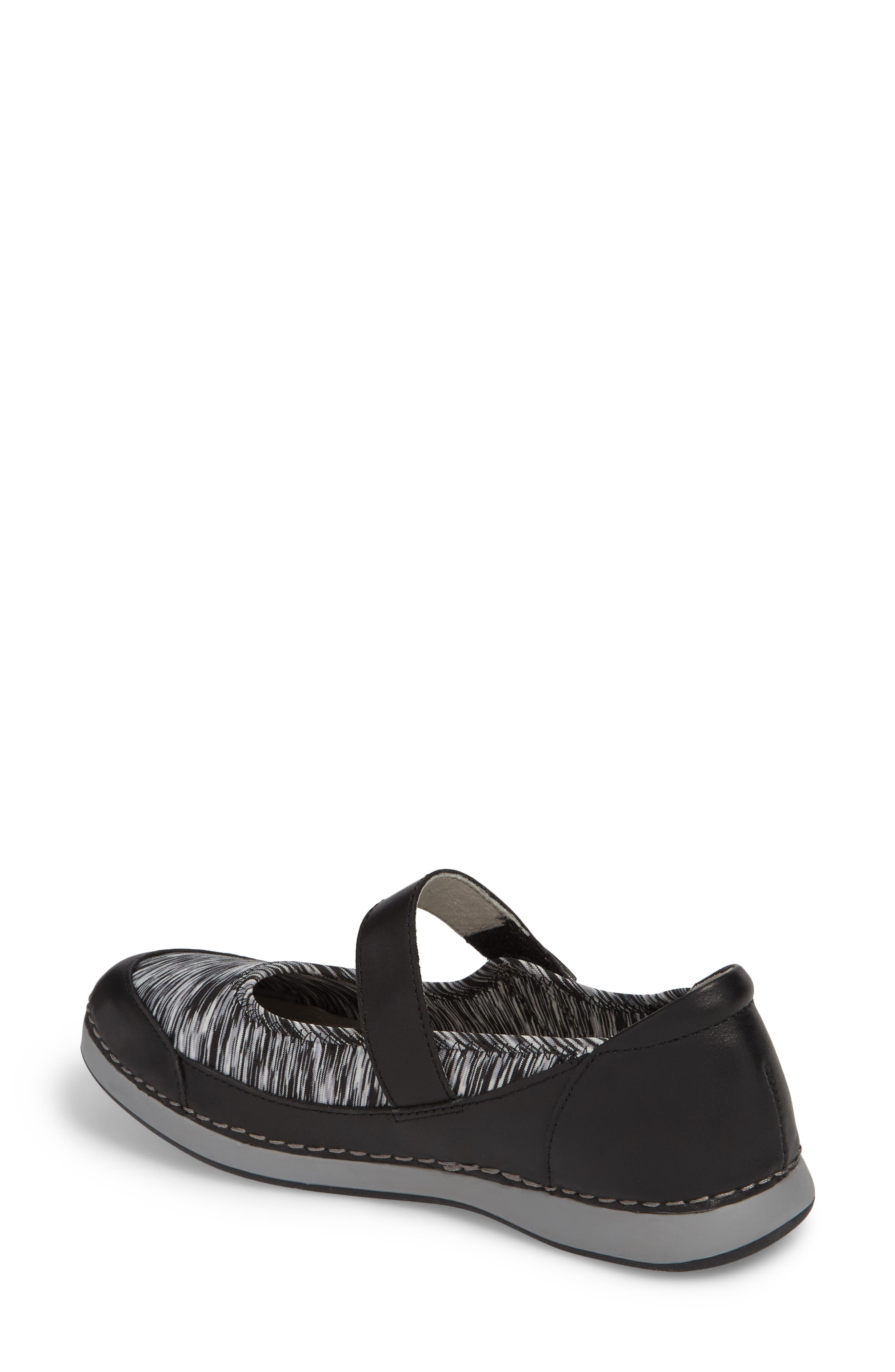 Gem Mary Jane Flat,                             Alternate thumbnail 2, color,                             Black Leather