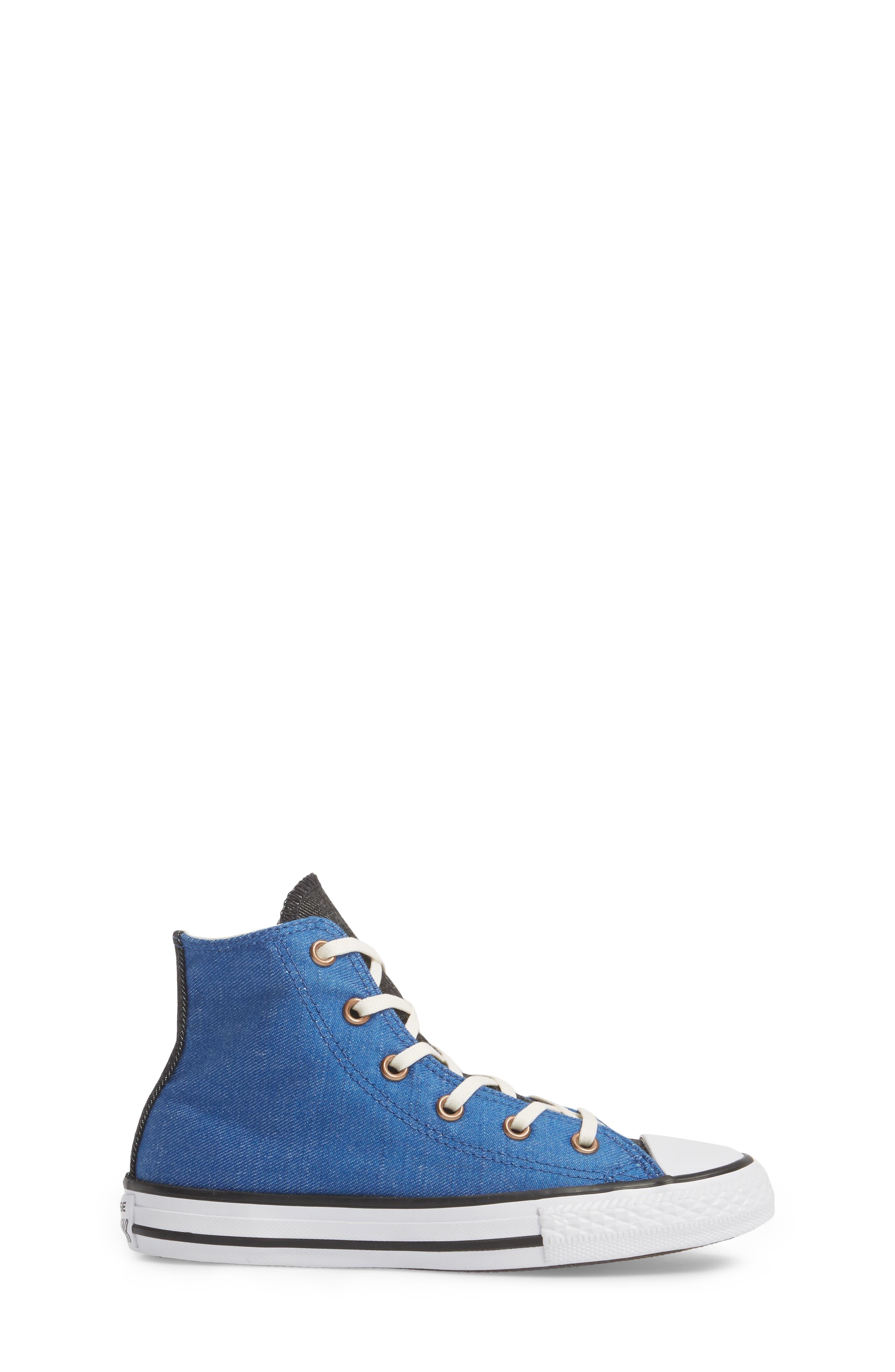 Chuck Taylor<sup>®</sup> All Star<sup>®</sup> Chambray High Top Sneaker,                             Alternate thumbnail 3, color,                             Nightfall Blue