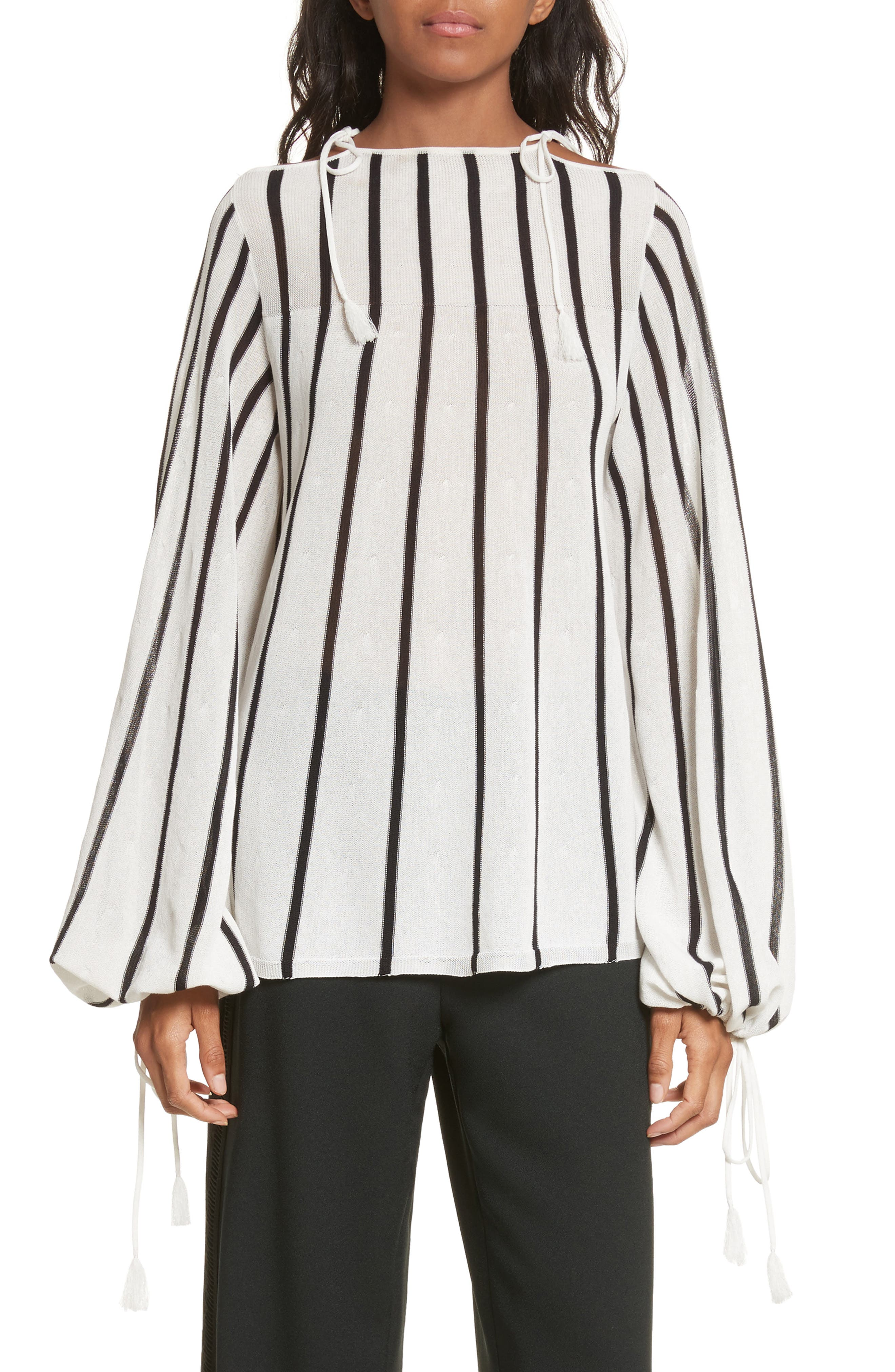 See by Chloé Stripe Tie Detail Sweater
