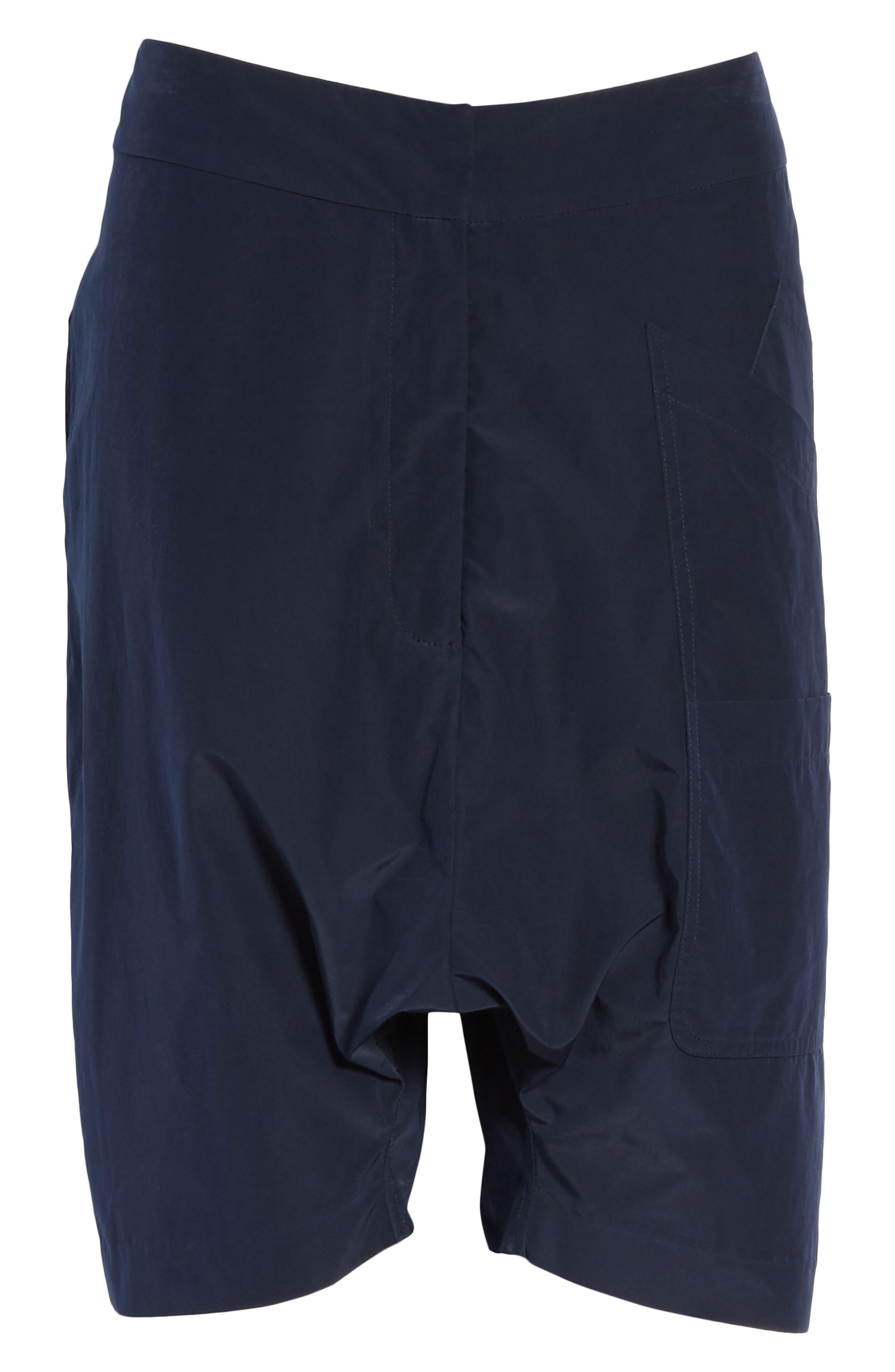 Drop Crotch Shorts,                             Alternate thumbnail 6, color,                             Navy