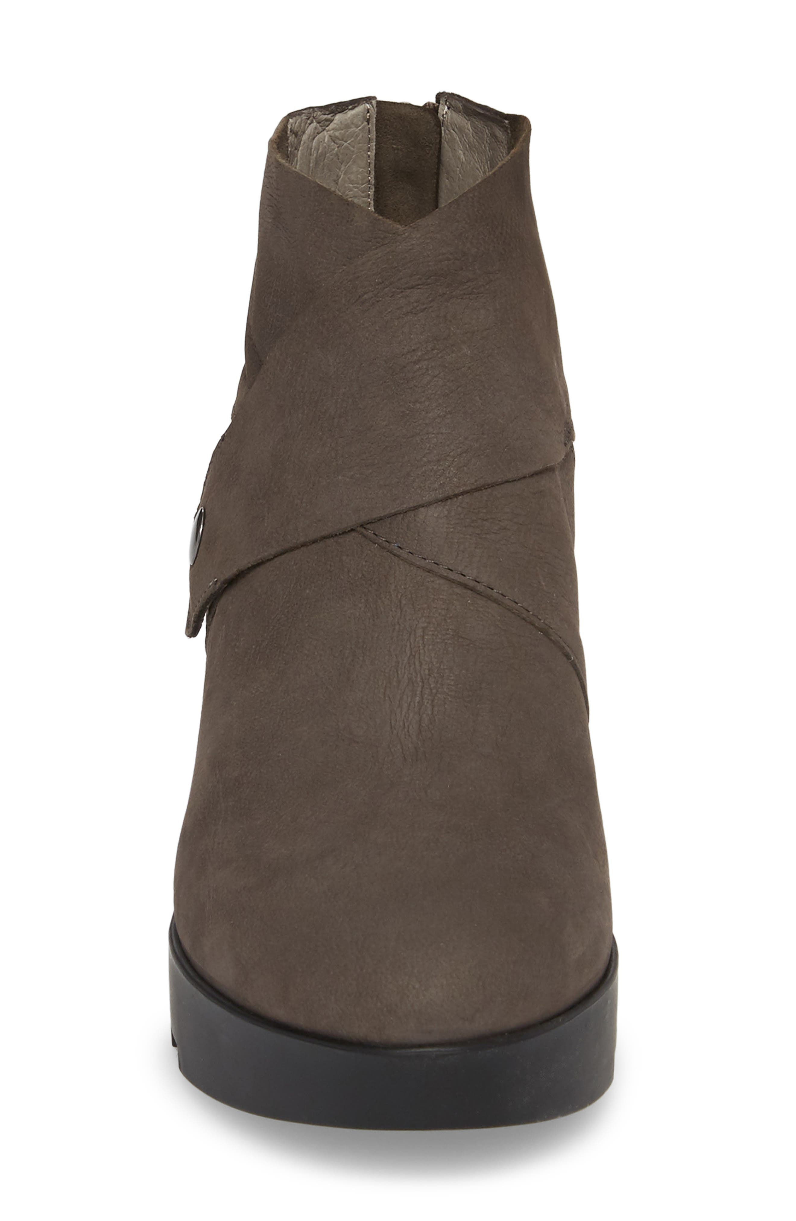 Tread Wedge Bootie,                             Alternate thumbnail 4, color,                             Graphite Nubuck
