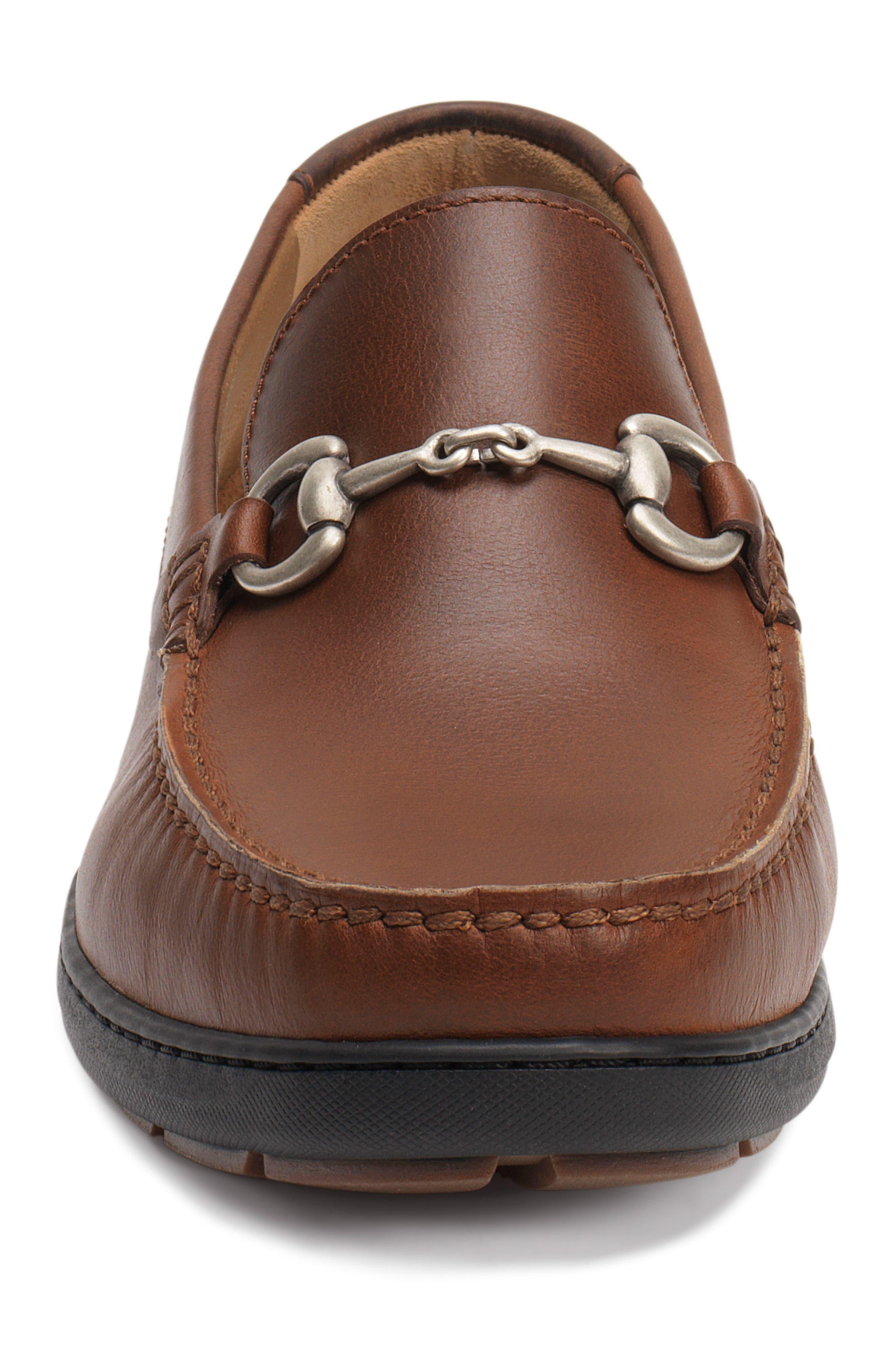 Stalworth Bit Loafer,                             Alternate thumbnail 4, color,                             Brandy Leather
