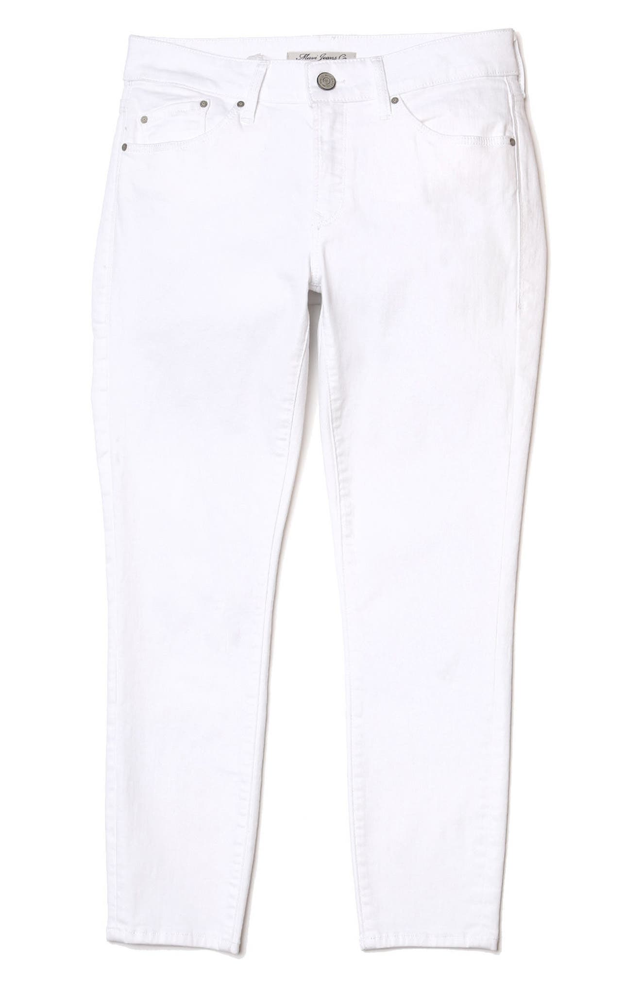 Adriana Ankle Jeans,                             Alternate thumbnail 4, color,                             White Tribeca