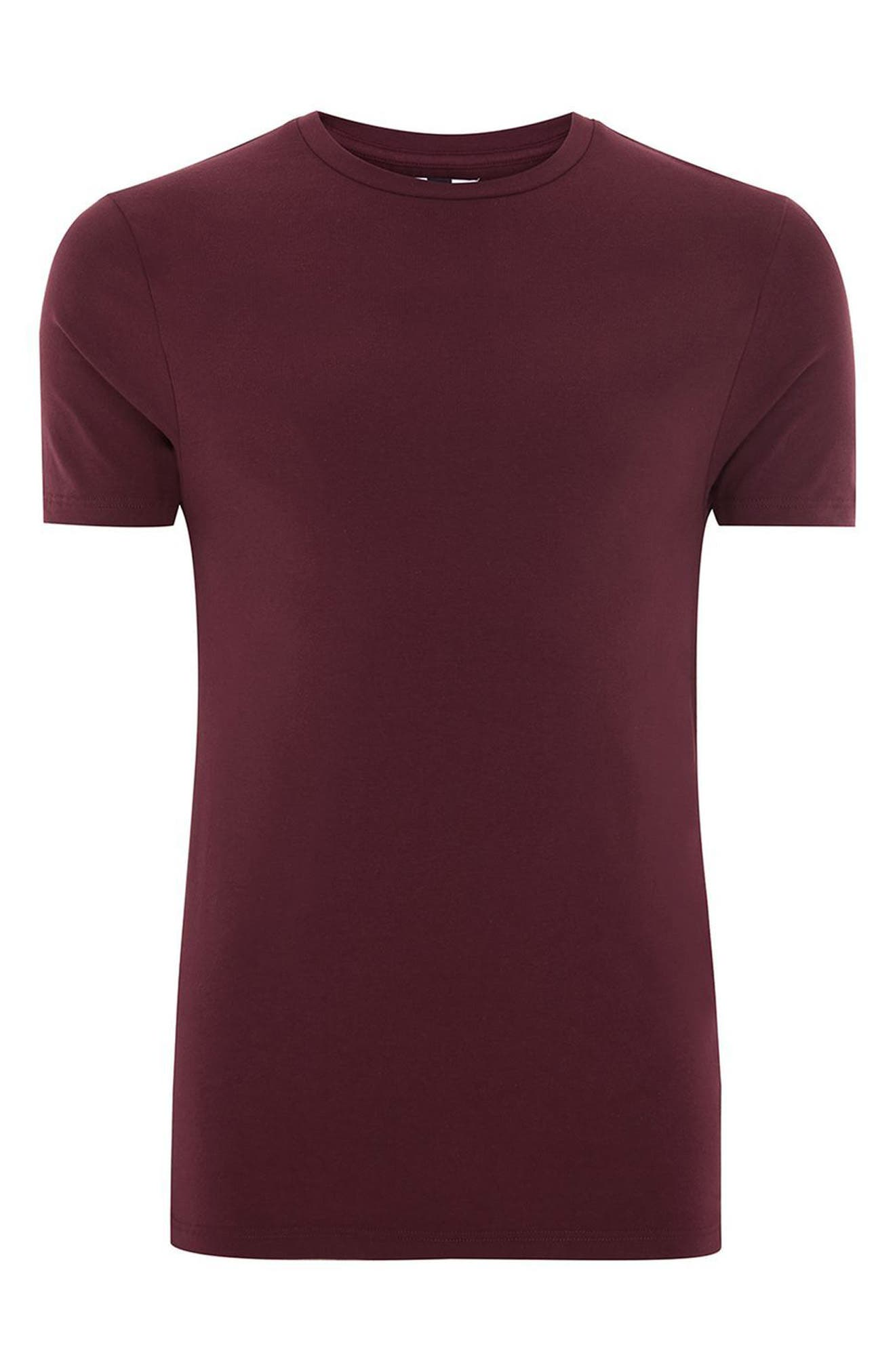 Ultra Muscle Fit T-Shirt,                             Alternate thumbnail 4, color,                             Burgundy