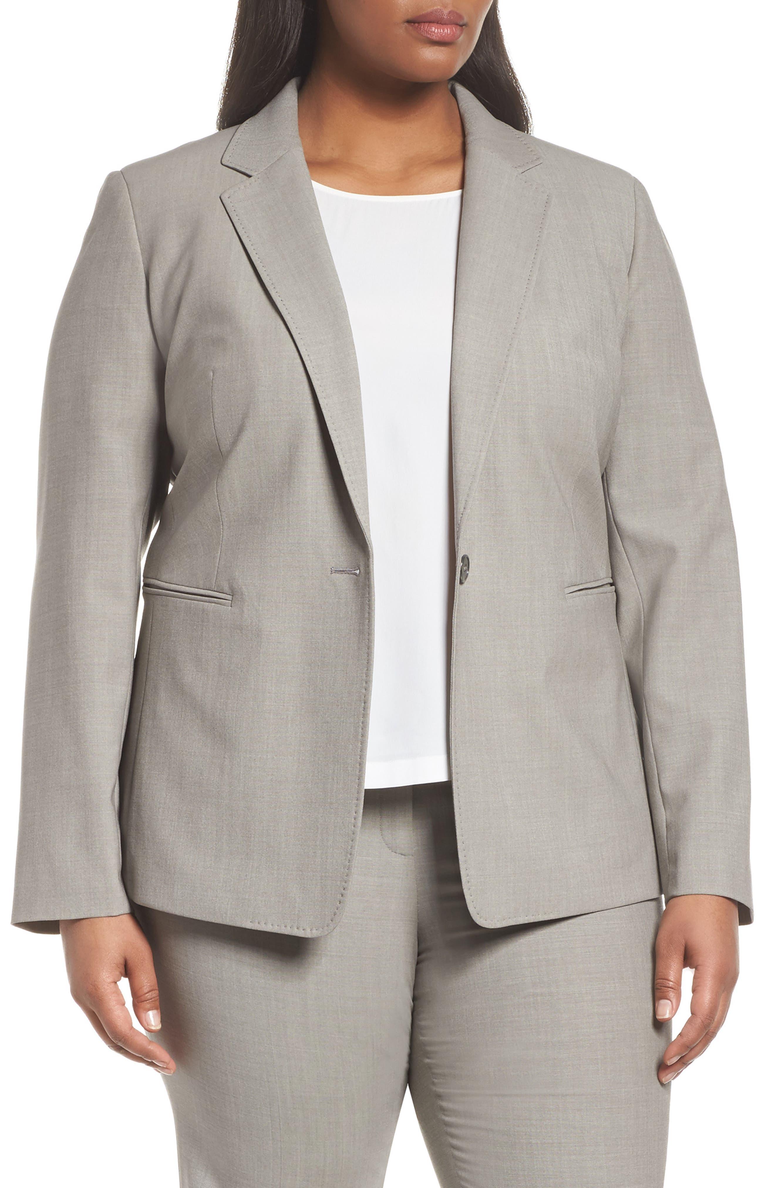 Lyndon Stretch Wool Blazer,                         Main,                         color, Feather Grey Melange