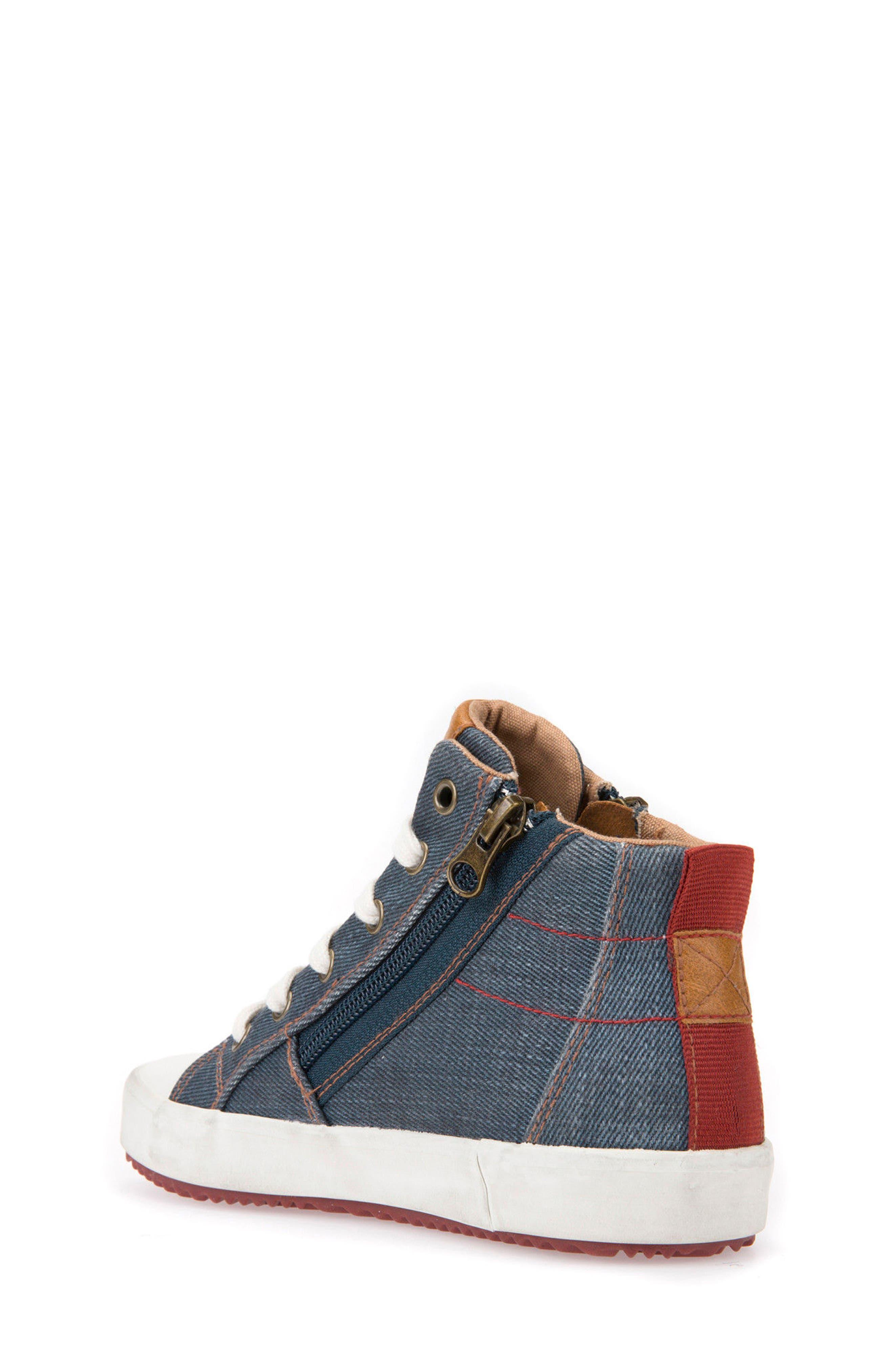 Alonisso High Top Sneaker,                             Alternate thumbnail 2, color,                             Blue/ Dark Red