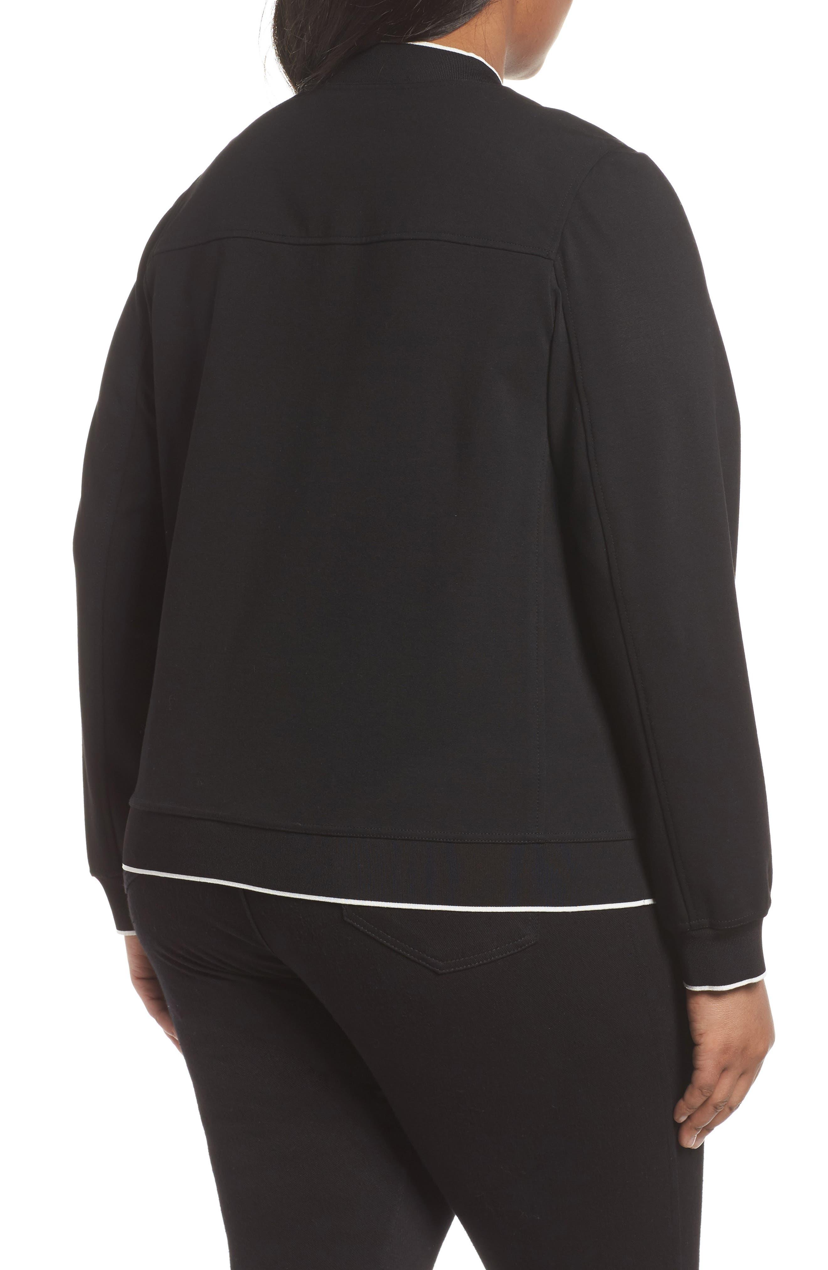 Alison Zip Front Jacket,                             Alternate thumbnail 2, color,                             Black