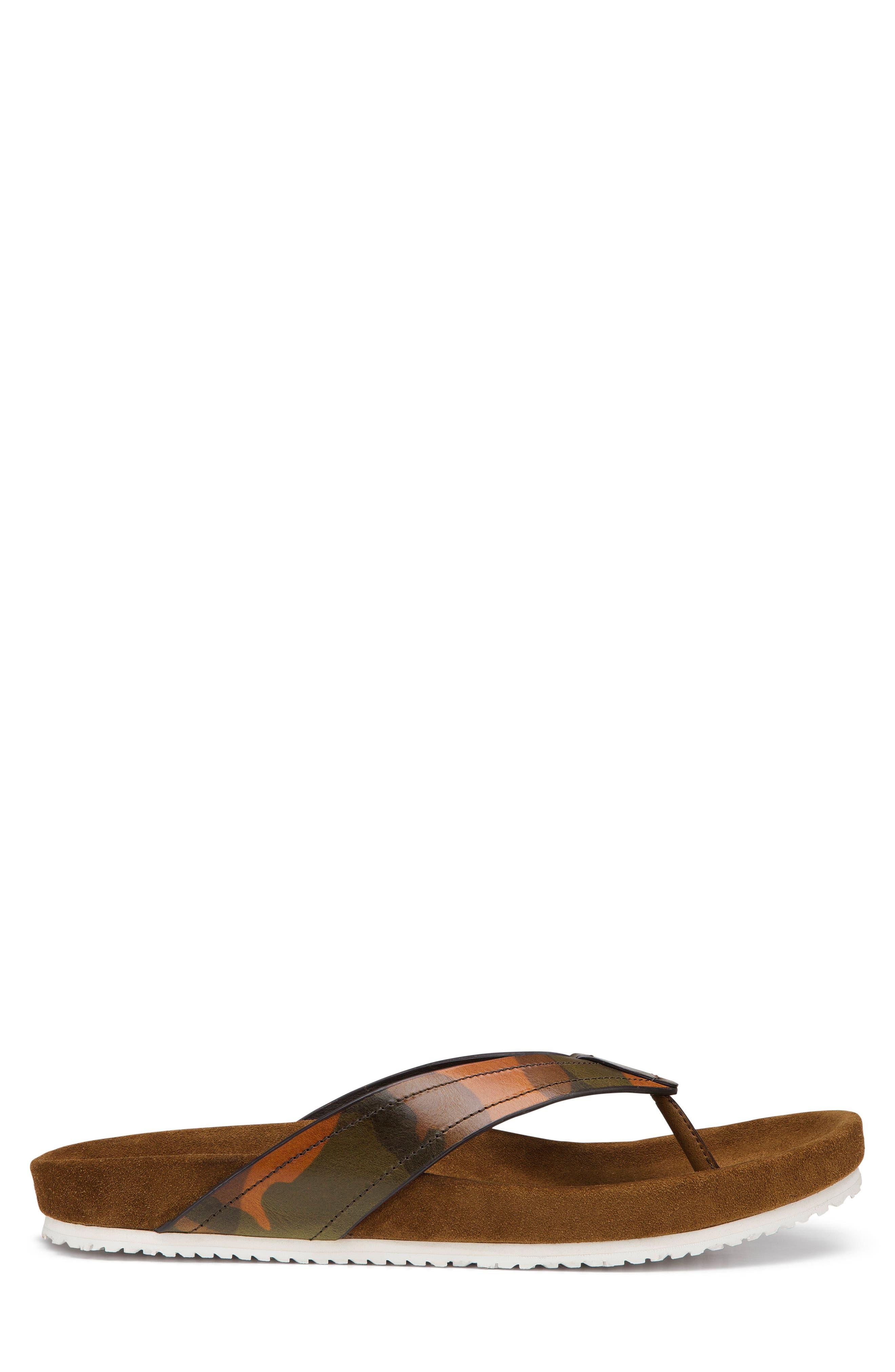 Fleming Flip Flop,                             Alternate thumbnail 3, color,                             Camoflage Leather