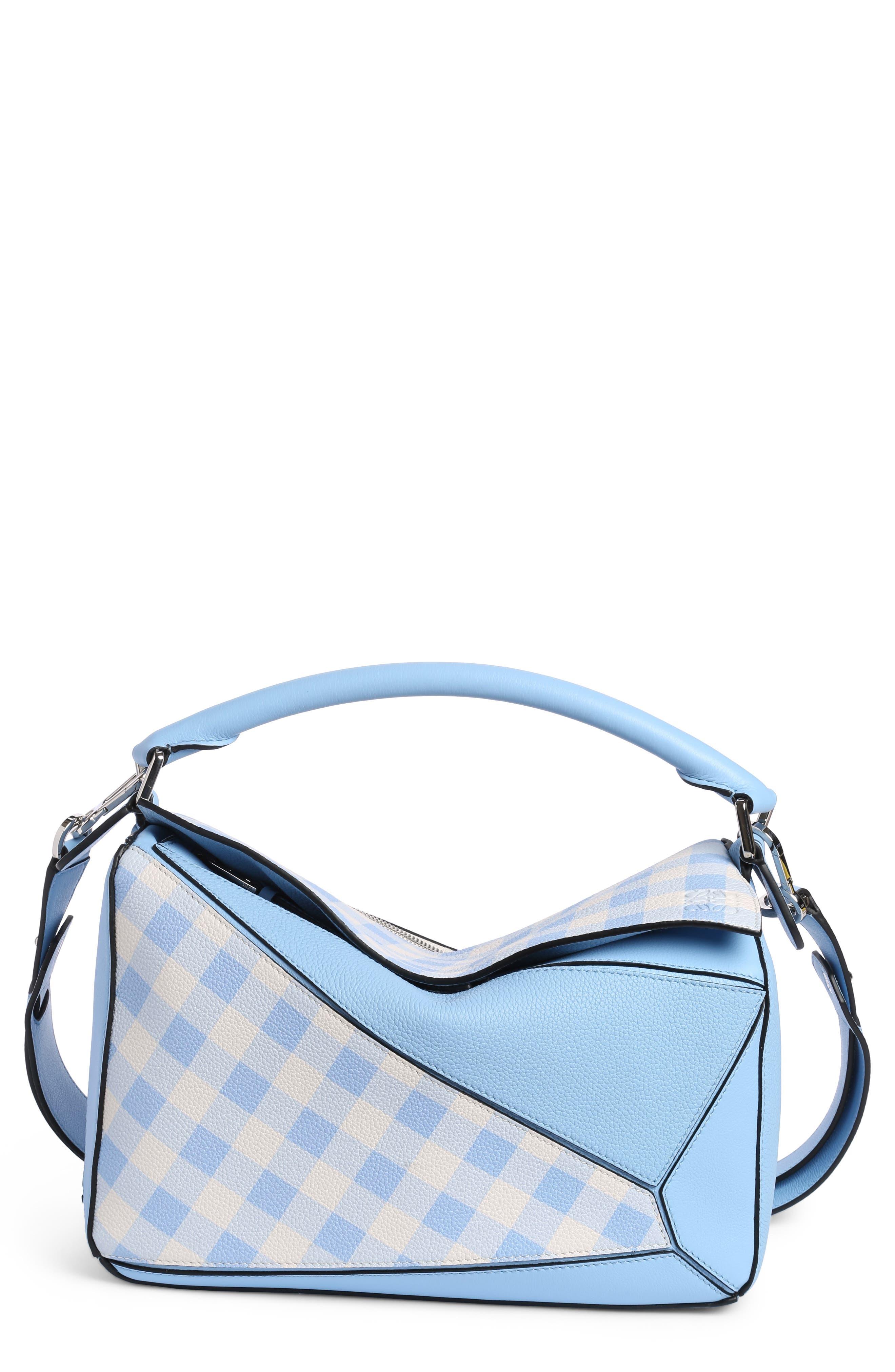 Main Image - Loewe Puzzle Gingham Calfskin Leather Bag