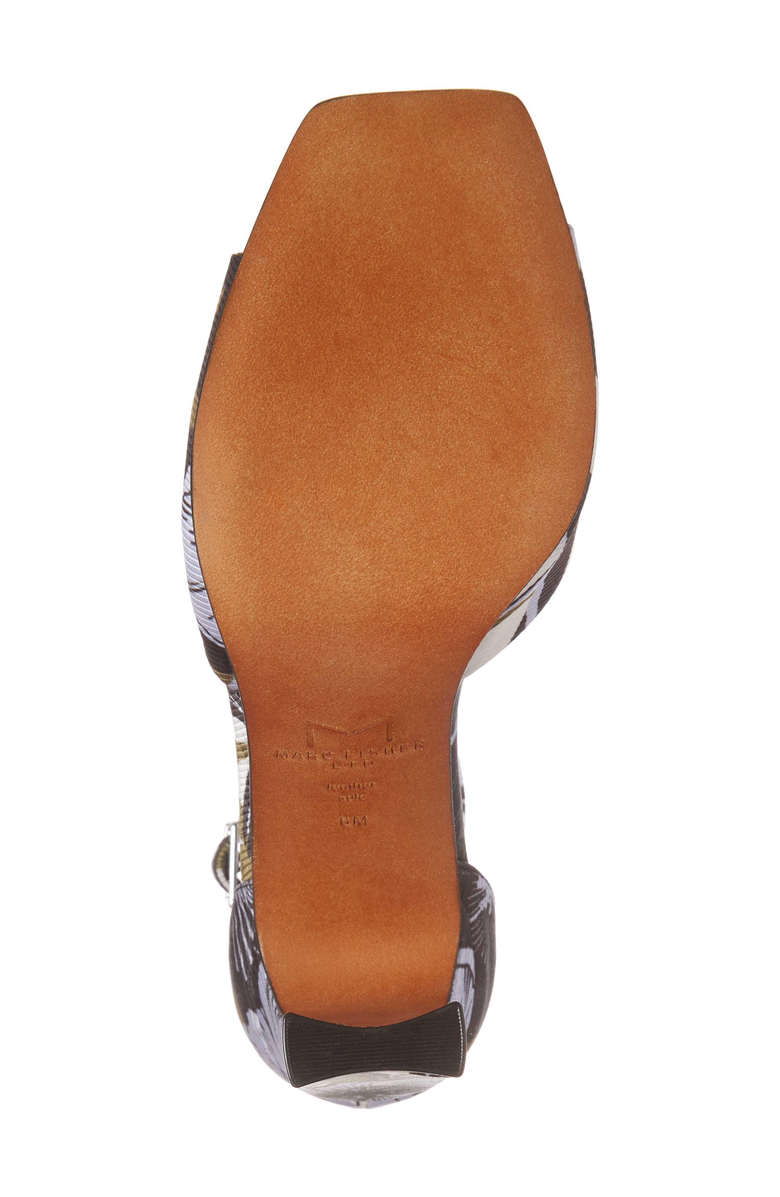 Harlin Ankle Strap Sandal,                             Alternate thumbnail 6, color,                             Jungle Print Fabric