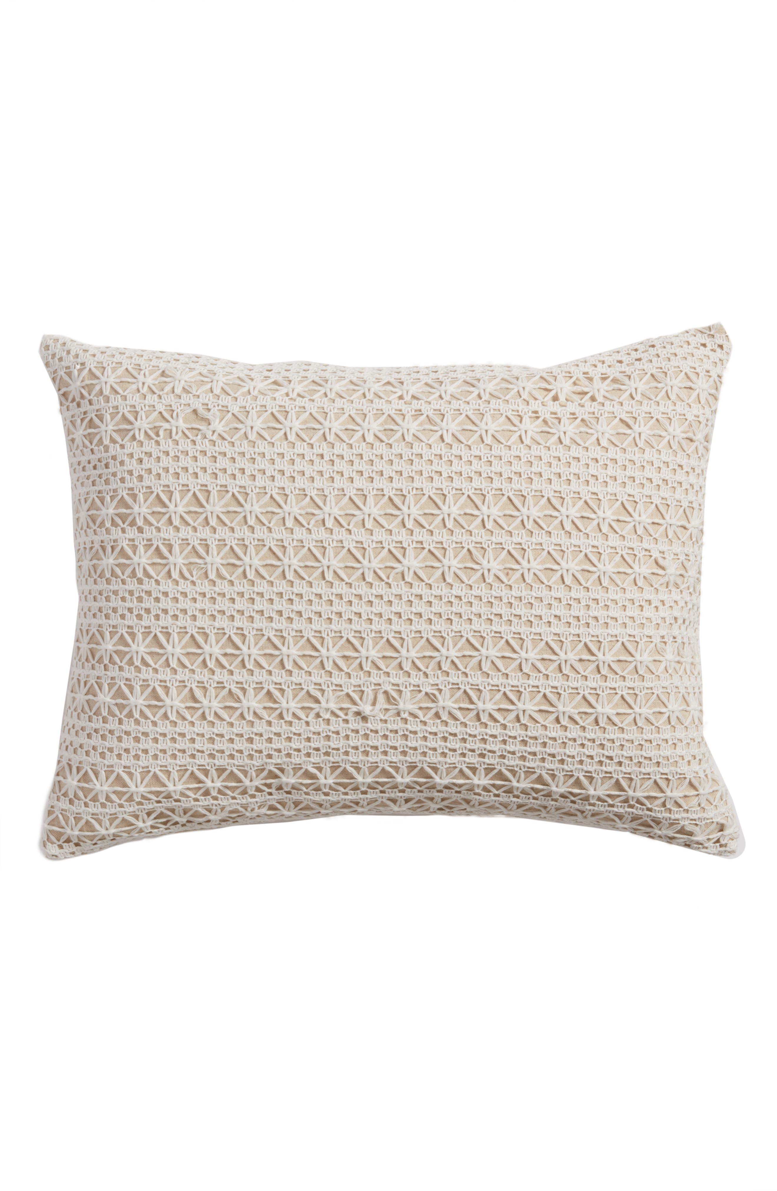 Arden Accent Pillow,                             Main thumbnail 1, color,                             Cream