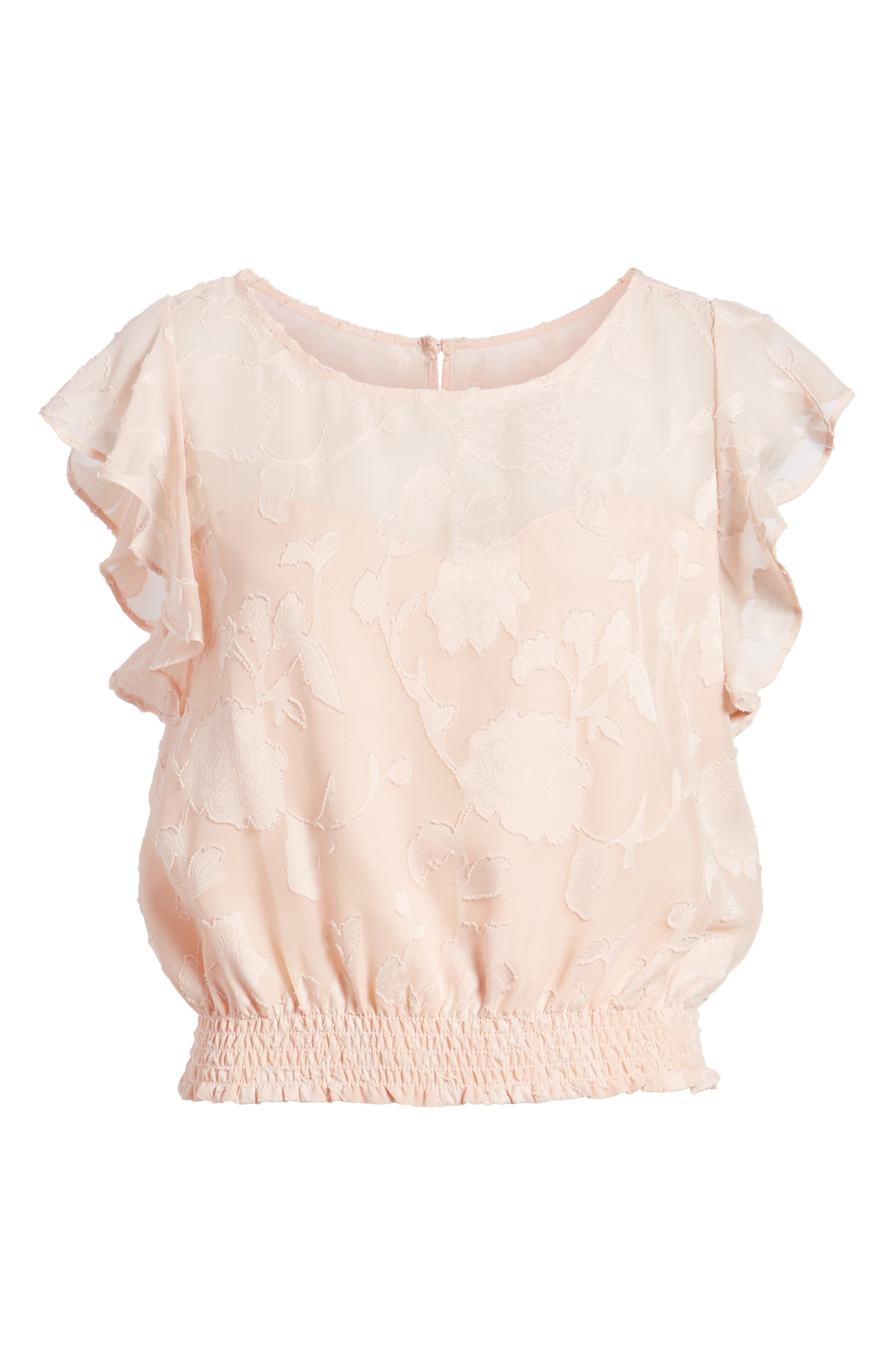 Alternate Image 6  - cupcakes and cashmere Banyan Floral Burnout Top
